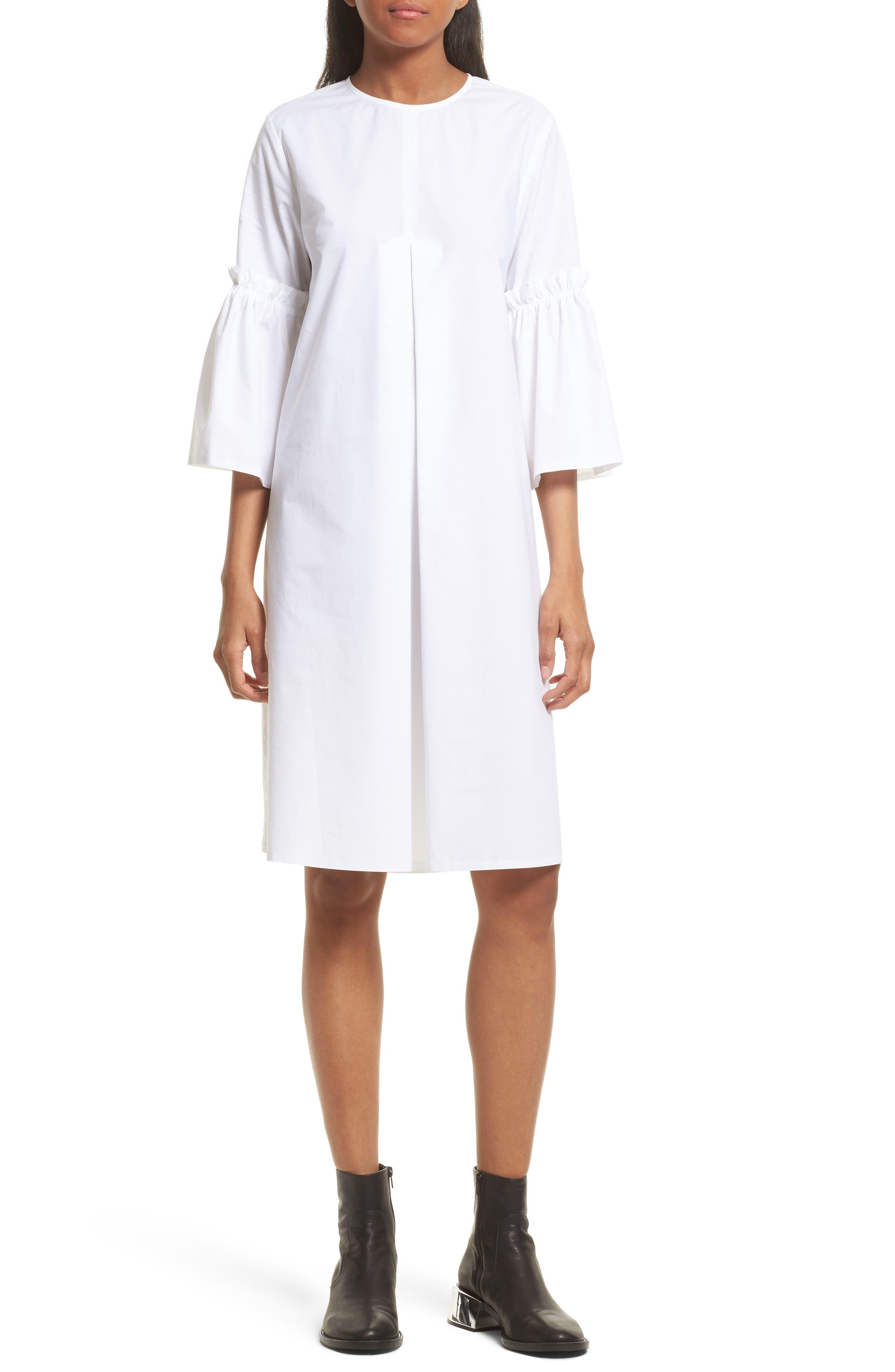 MM6 Maison Margiela Bell Sleeve Poplin Tunic Dress
