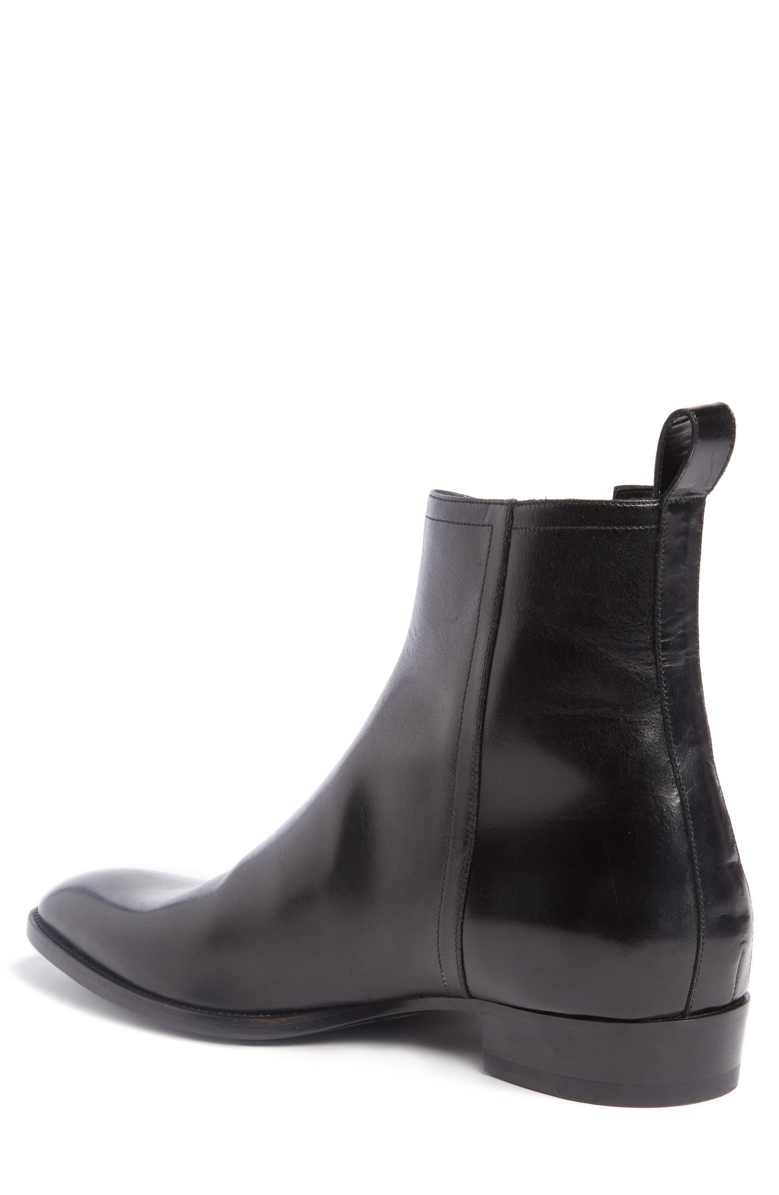 Wyatt Side Zip Boot,                             Alternate thumbnail 2, color,                             Nero Leather