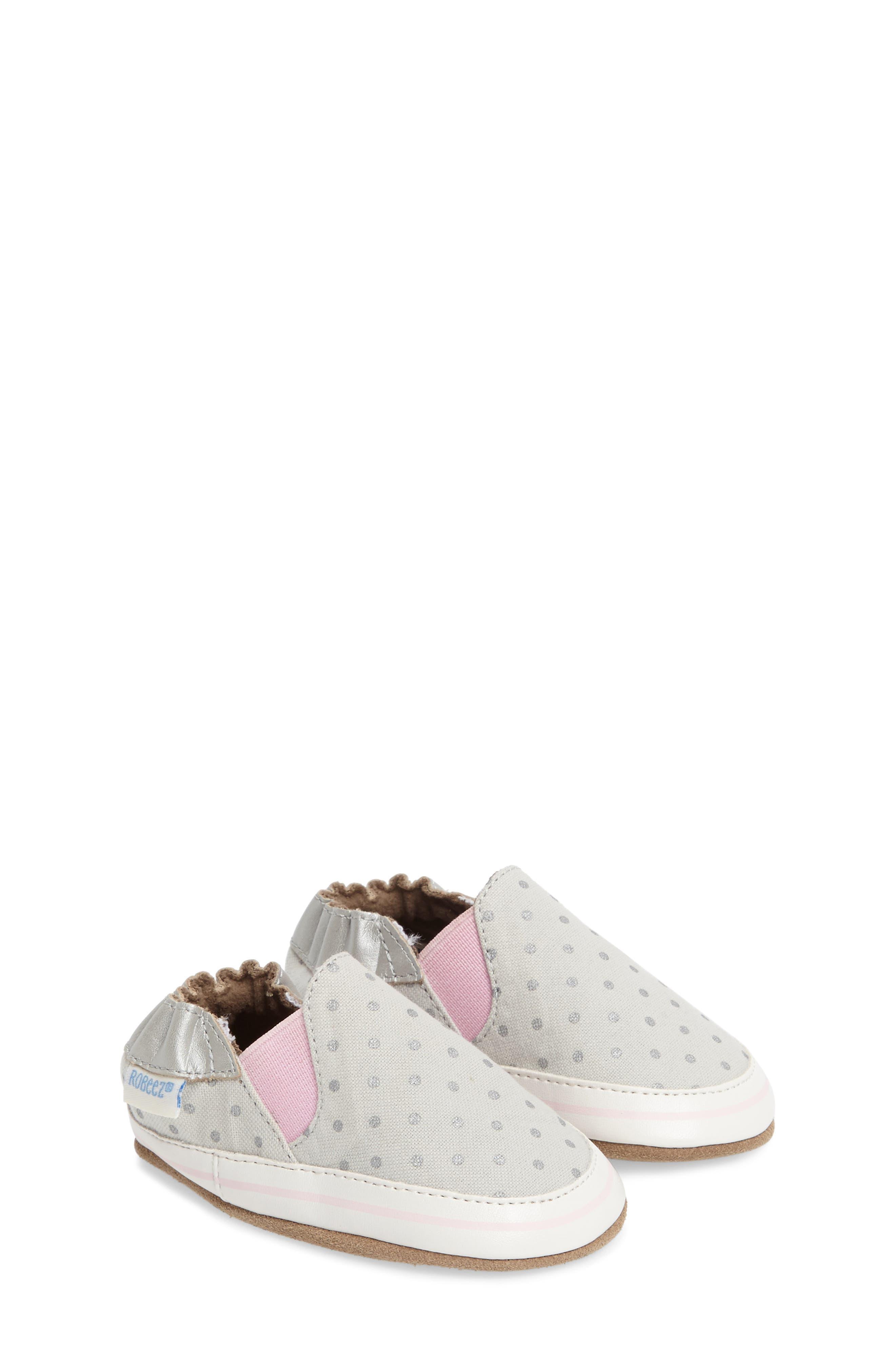 Robeez® Dot Mania Crib Shoe (Baby)