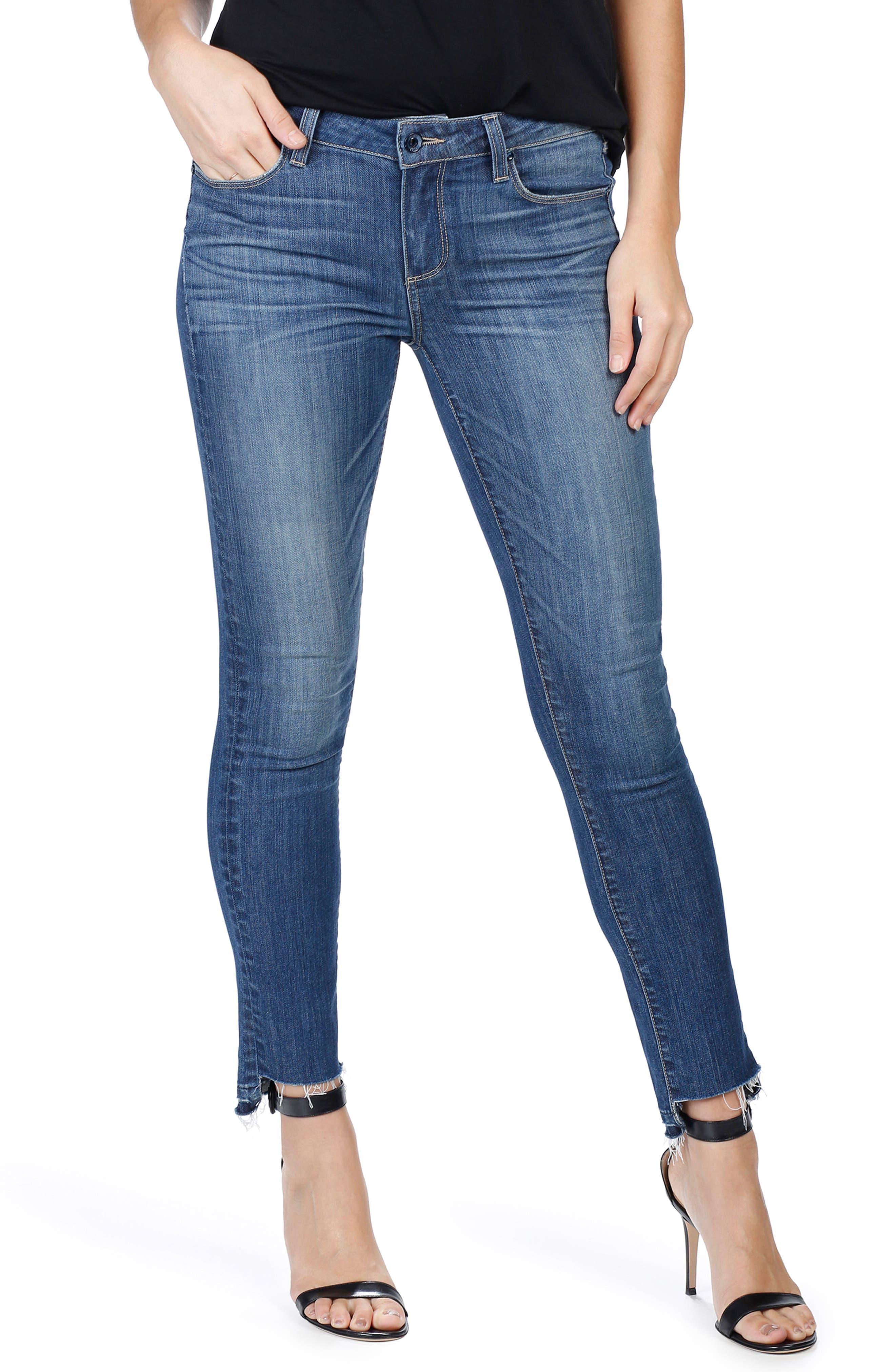PAIGE Skyline Step Hem Ankle Peg Skinny Jeans