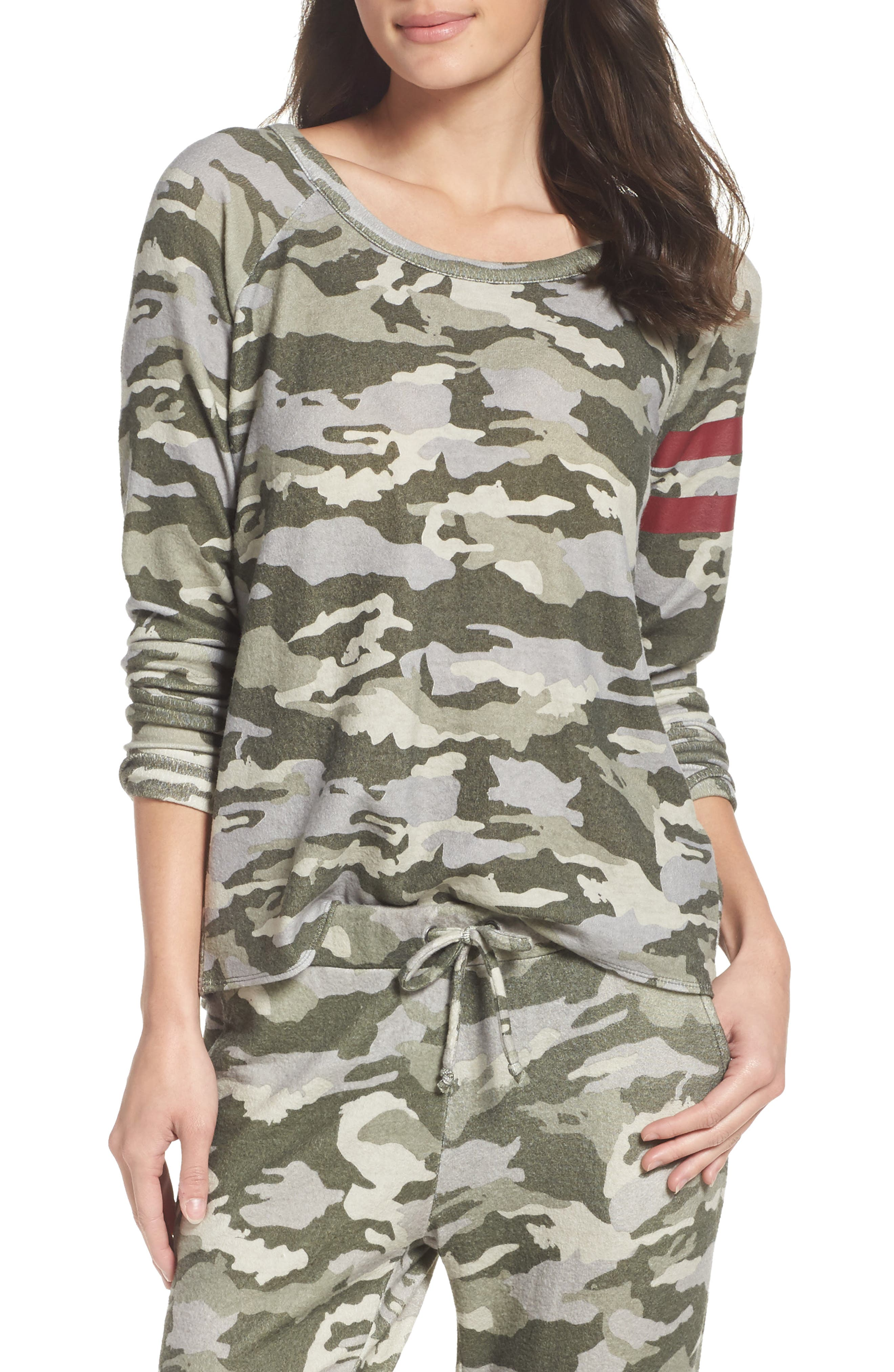 Camo Lounge Sweatshirt,                         Main,                         color, Camo