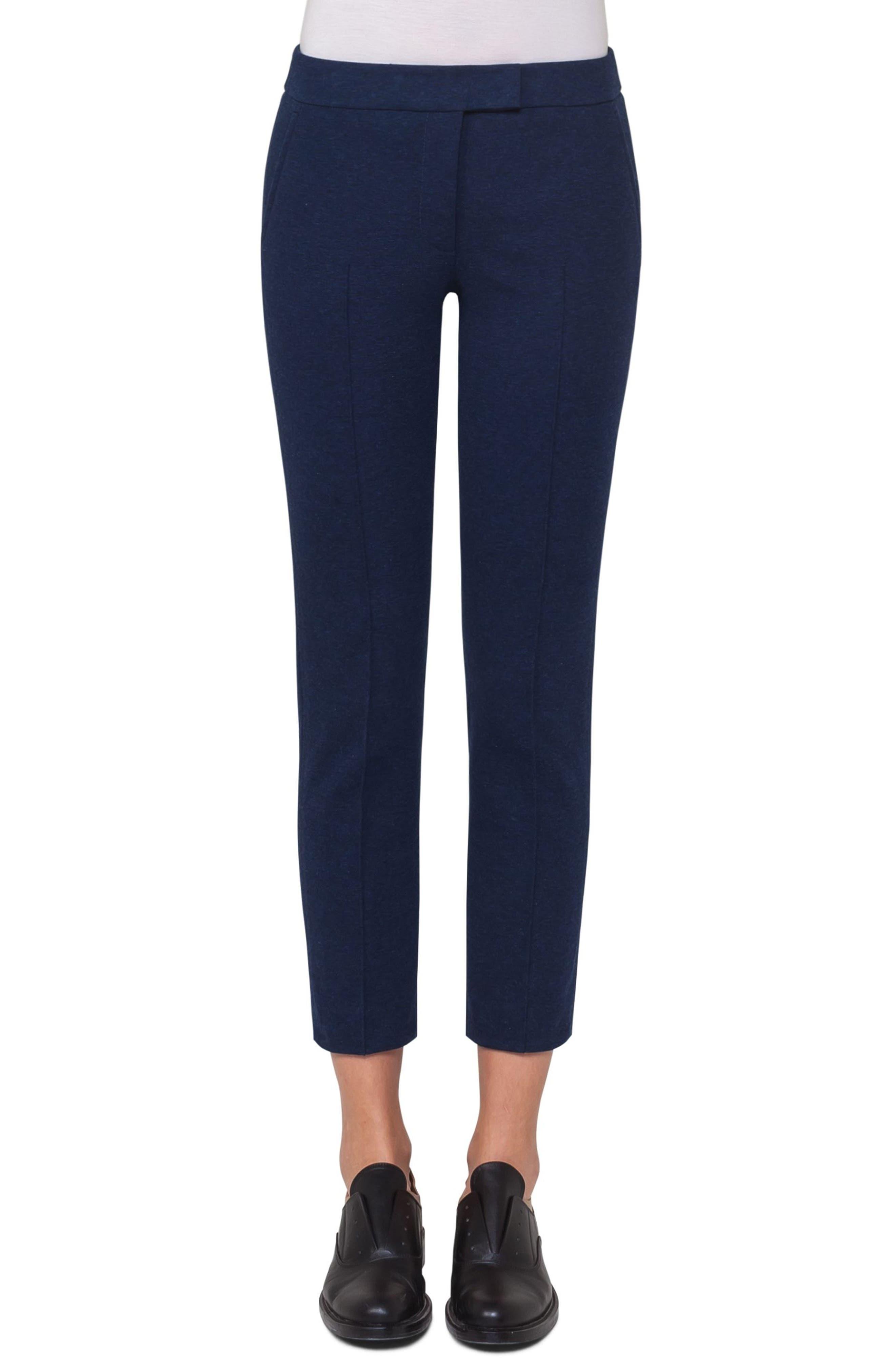 Alternate Image 1 Selected - Akris punto Frankie Crop Jersey Pants