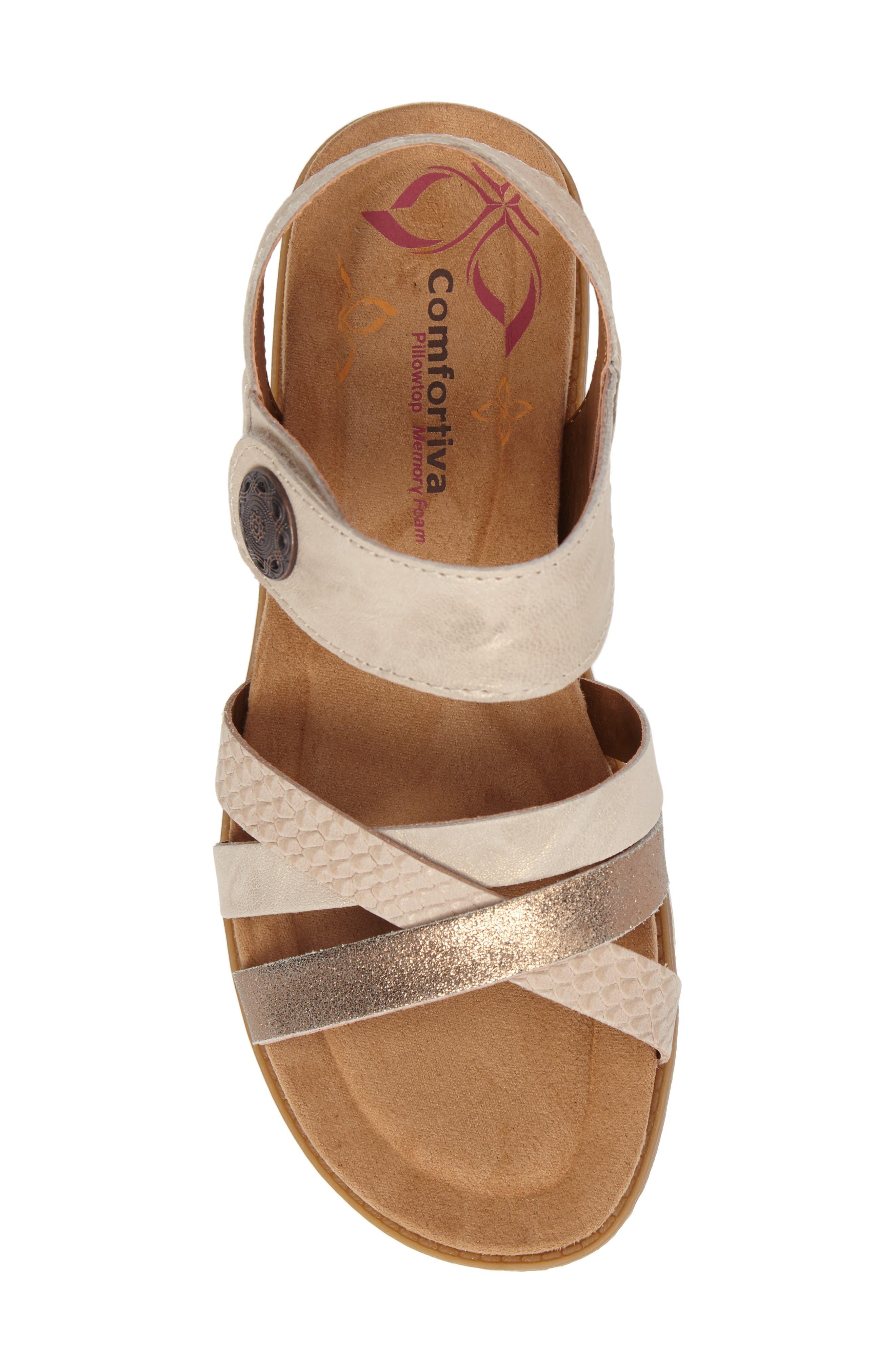 Alonsa Sandal,                             Alternate thumbnail 5, color,                             Light Grey/ Blush Leather
