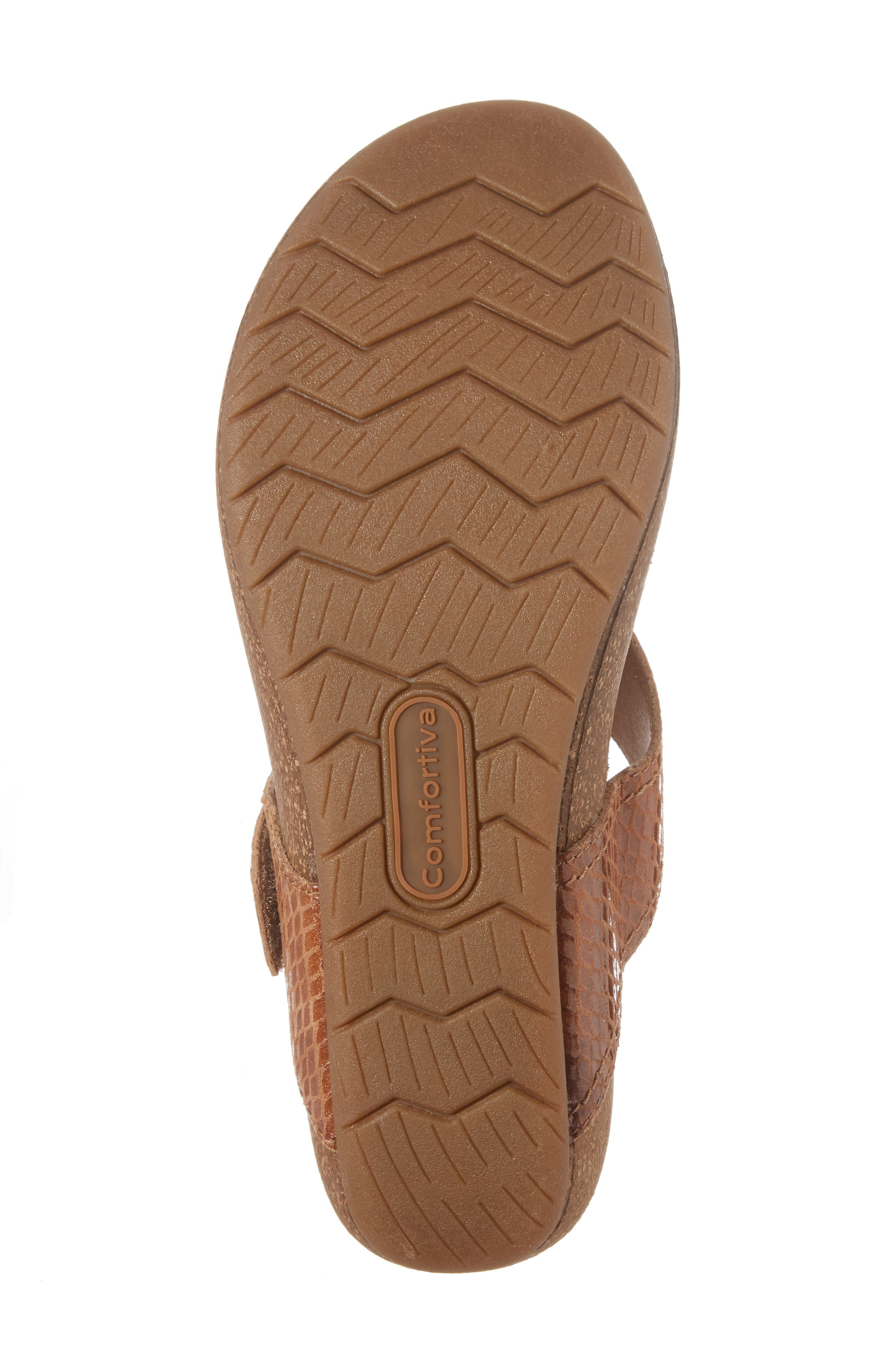 Shantel Flip Flop,                             Alternate thumbnail 6, color,                             Luggage Print Leather