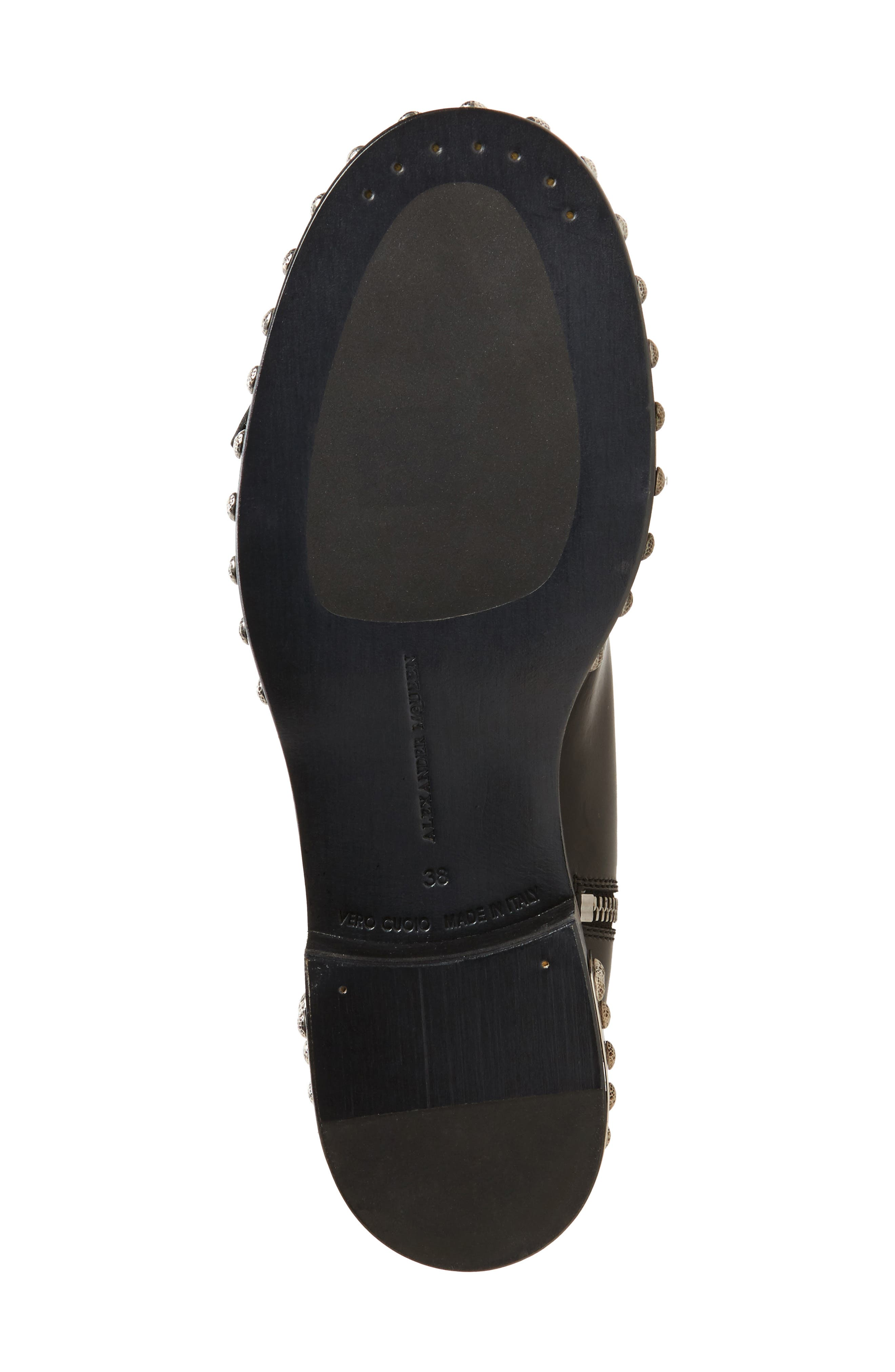Studded Cap Toe Boot,                             Alternate thumbnail 6, color,                             Black