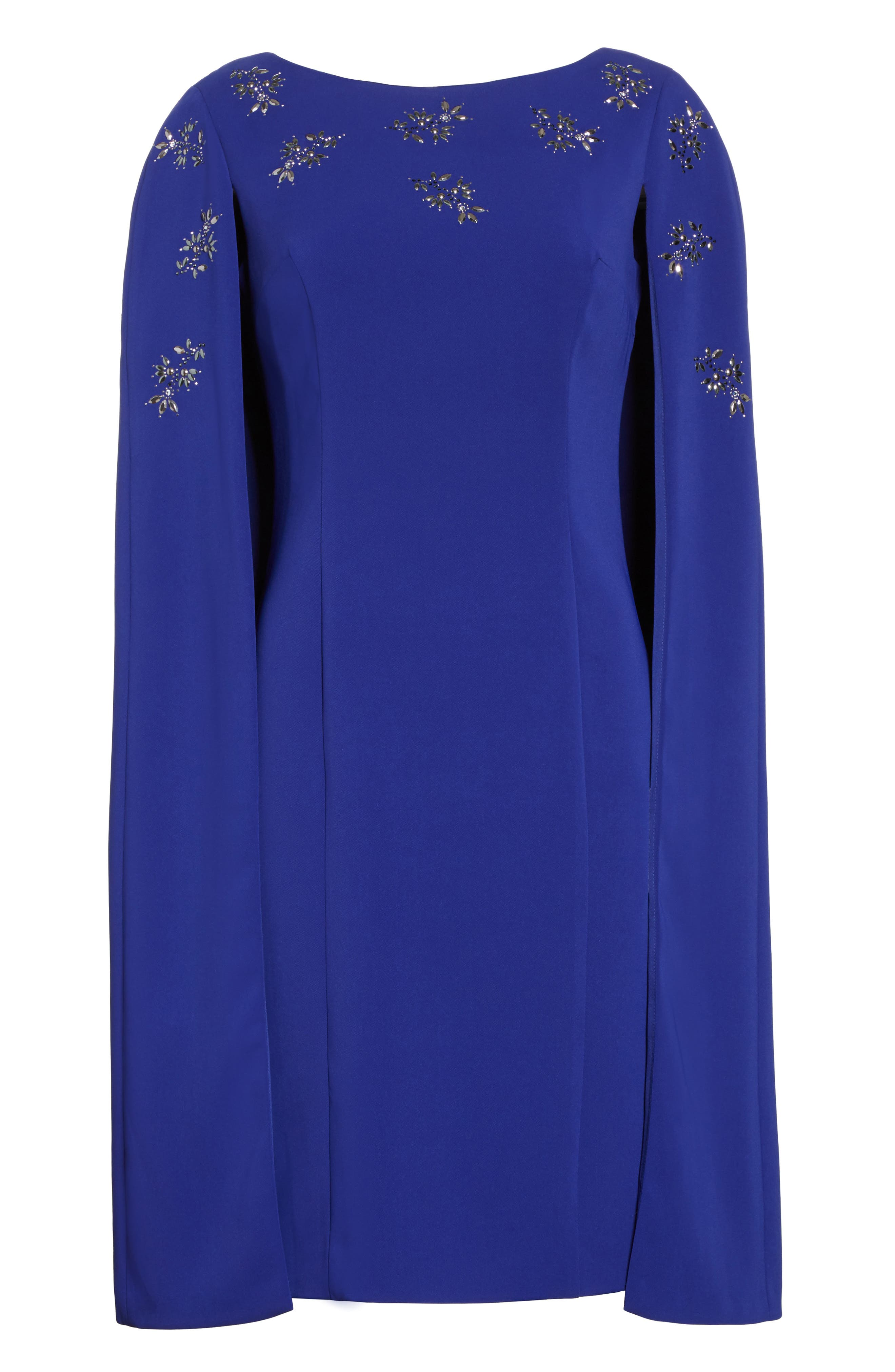 Alternate Image 6  - St. John Collection Embellished Classic Stretch Cady Cape Dress