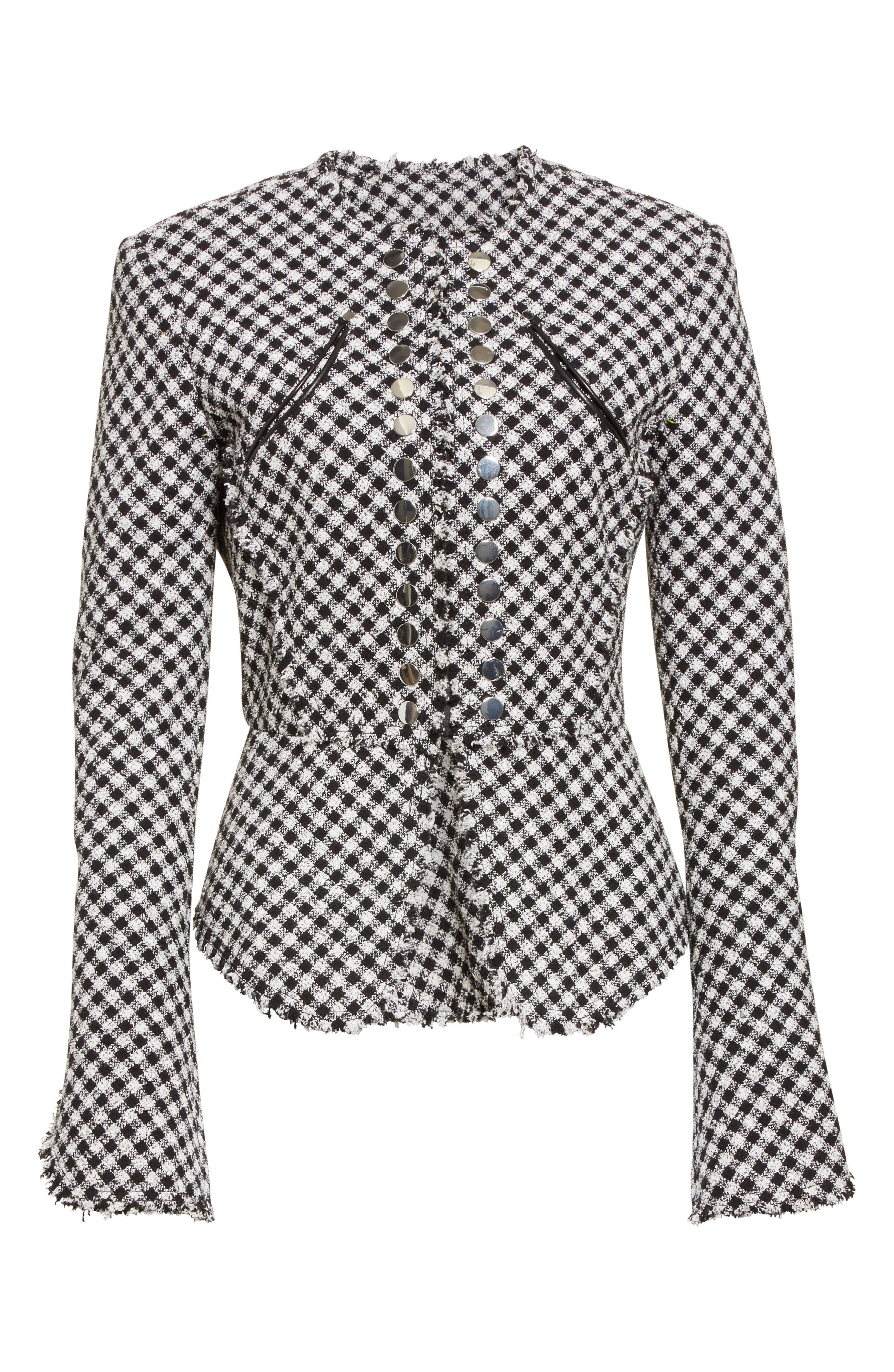 Alternate Image 4  - Alexander Wang Check Tweed Peplum Jacket