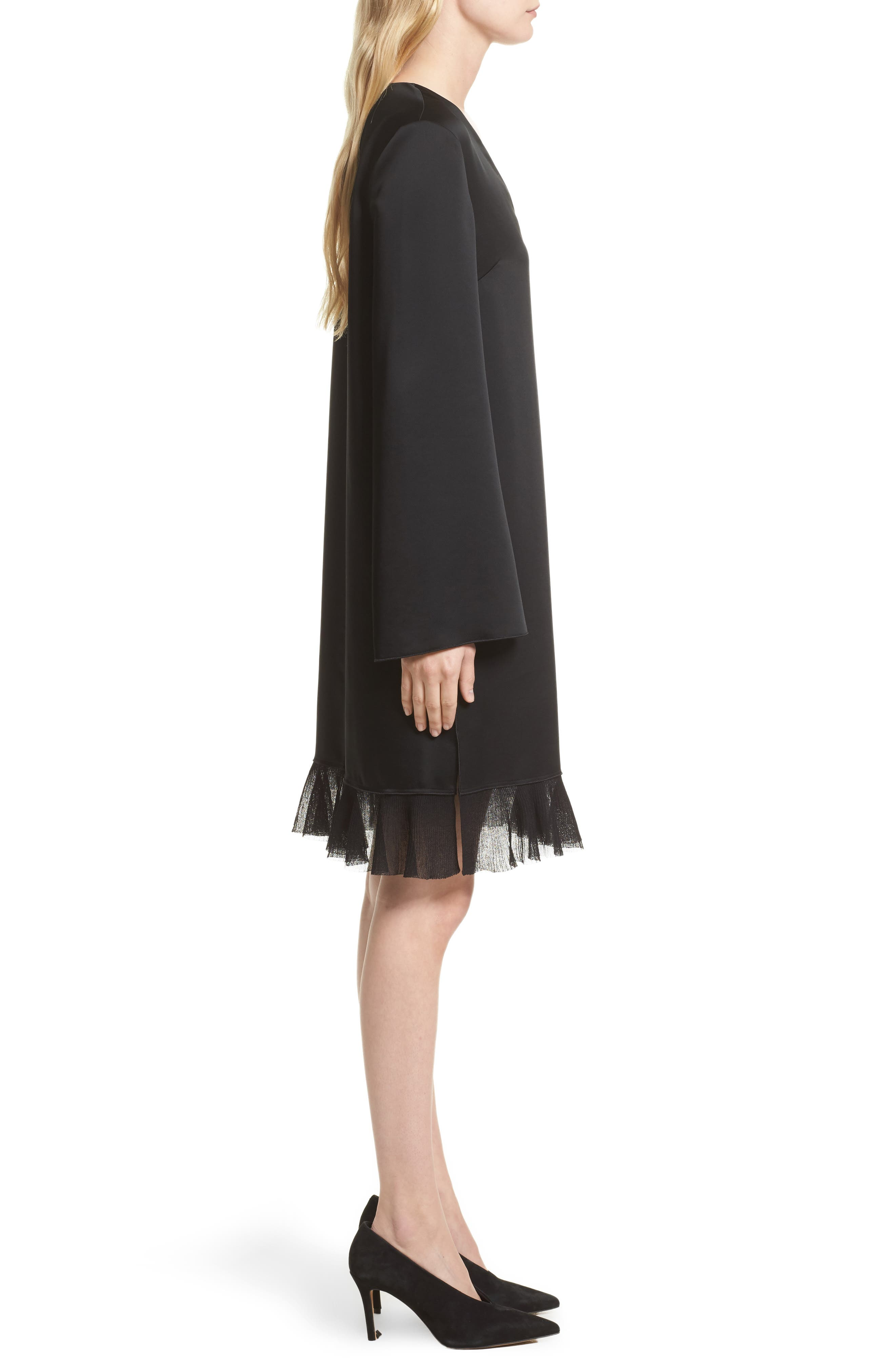 Heath Shift Dress,                             Alternate thumbnail 3, color,                             Black