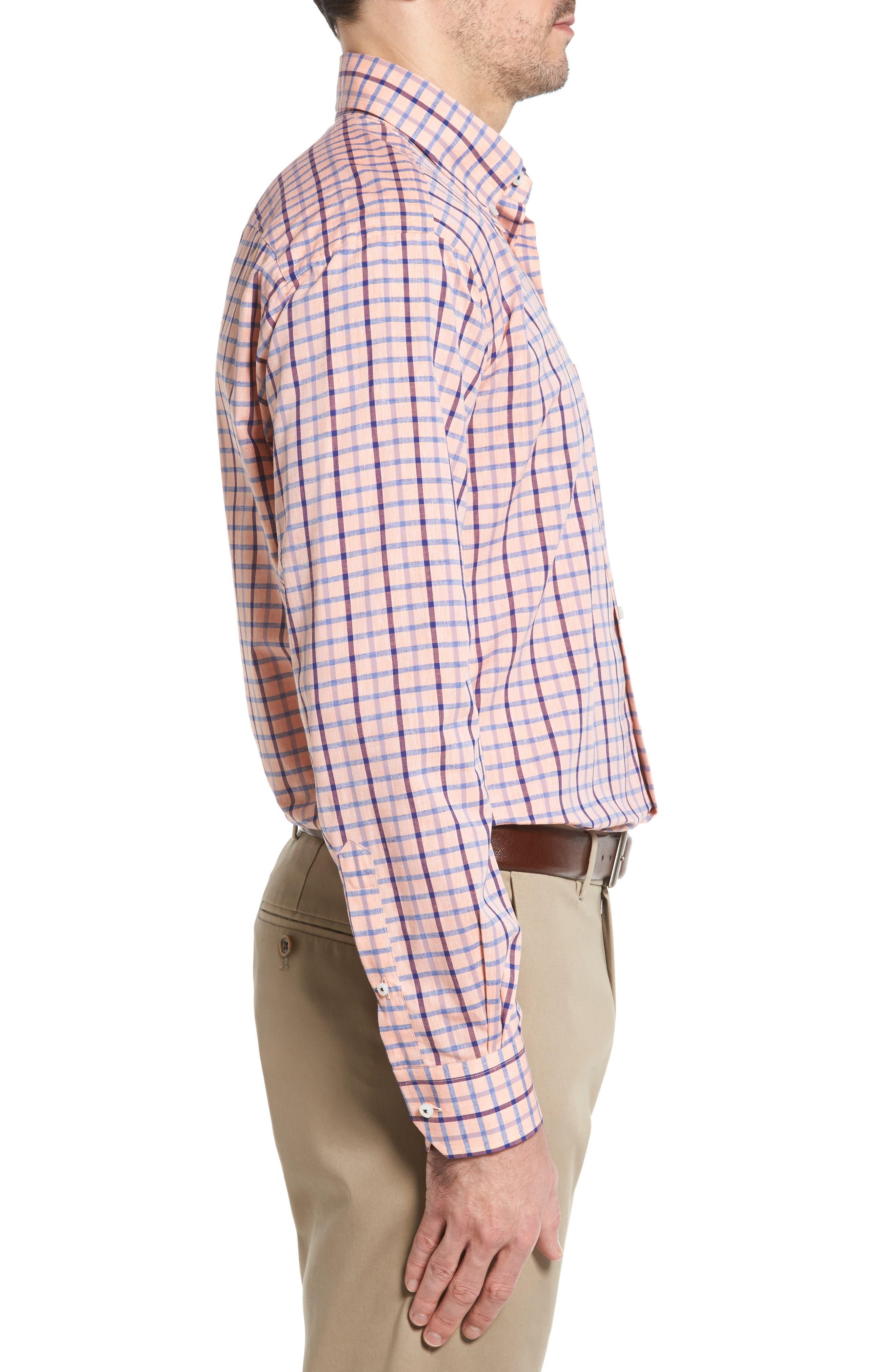 Estate Classic Fit Sport Shirt,                             Alternate thumbnail 3, color,                             Papaya