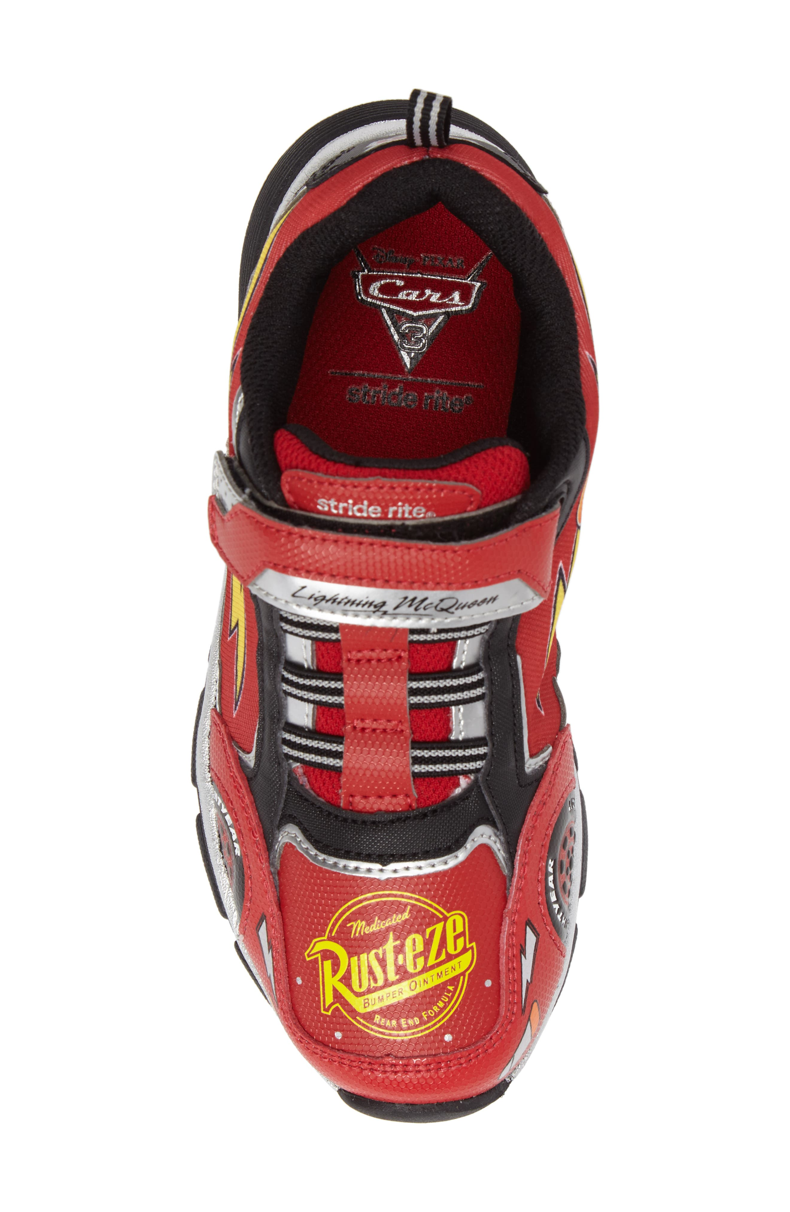 Disney Cars Sneaker,                             Alternate thumbnail 5, color,                             Red