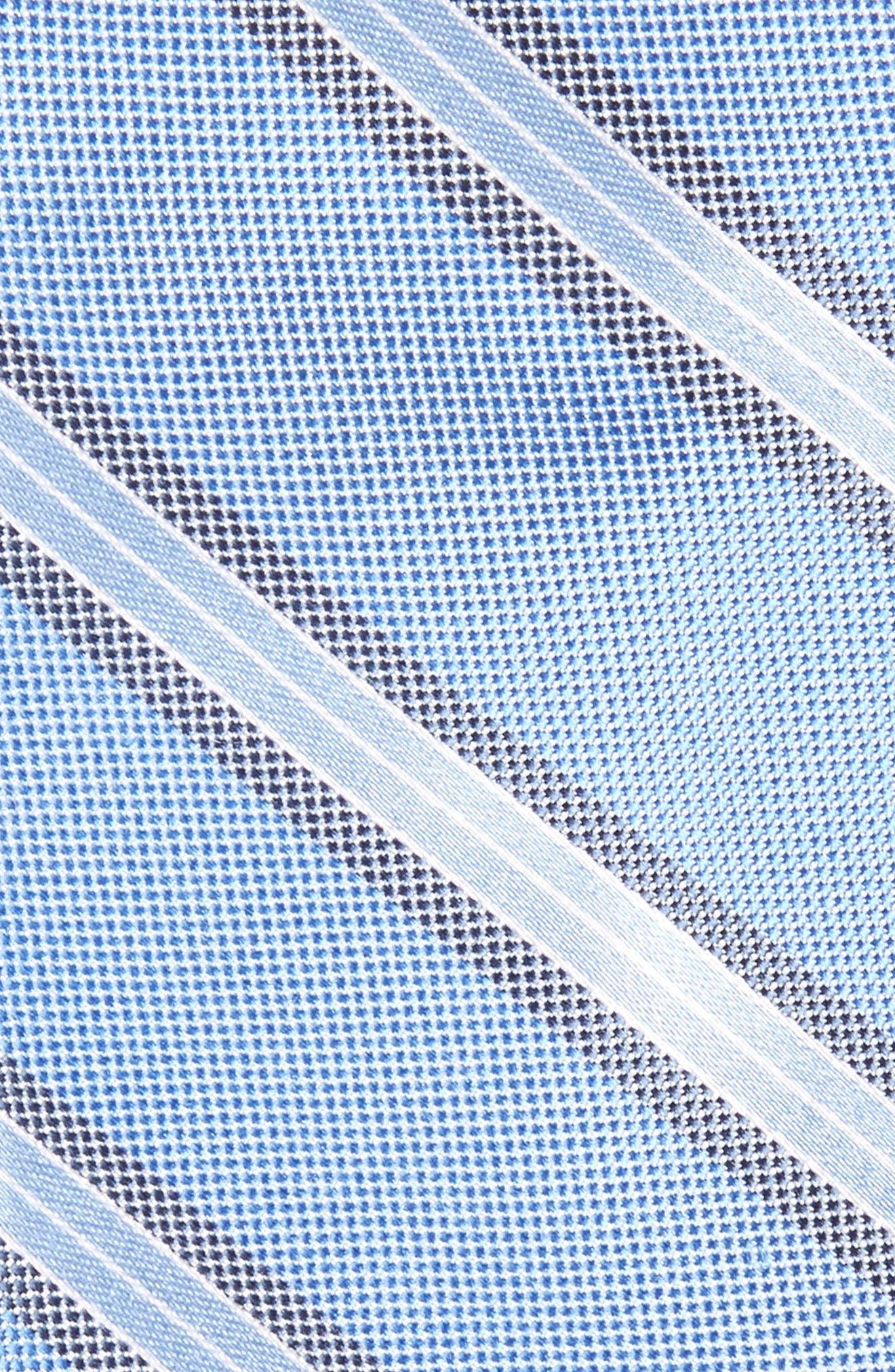 Stripe Silk Skinny Tie,                             Alternate thumbnail 2, color,                             Blue