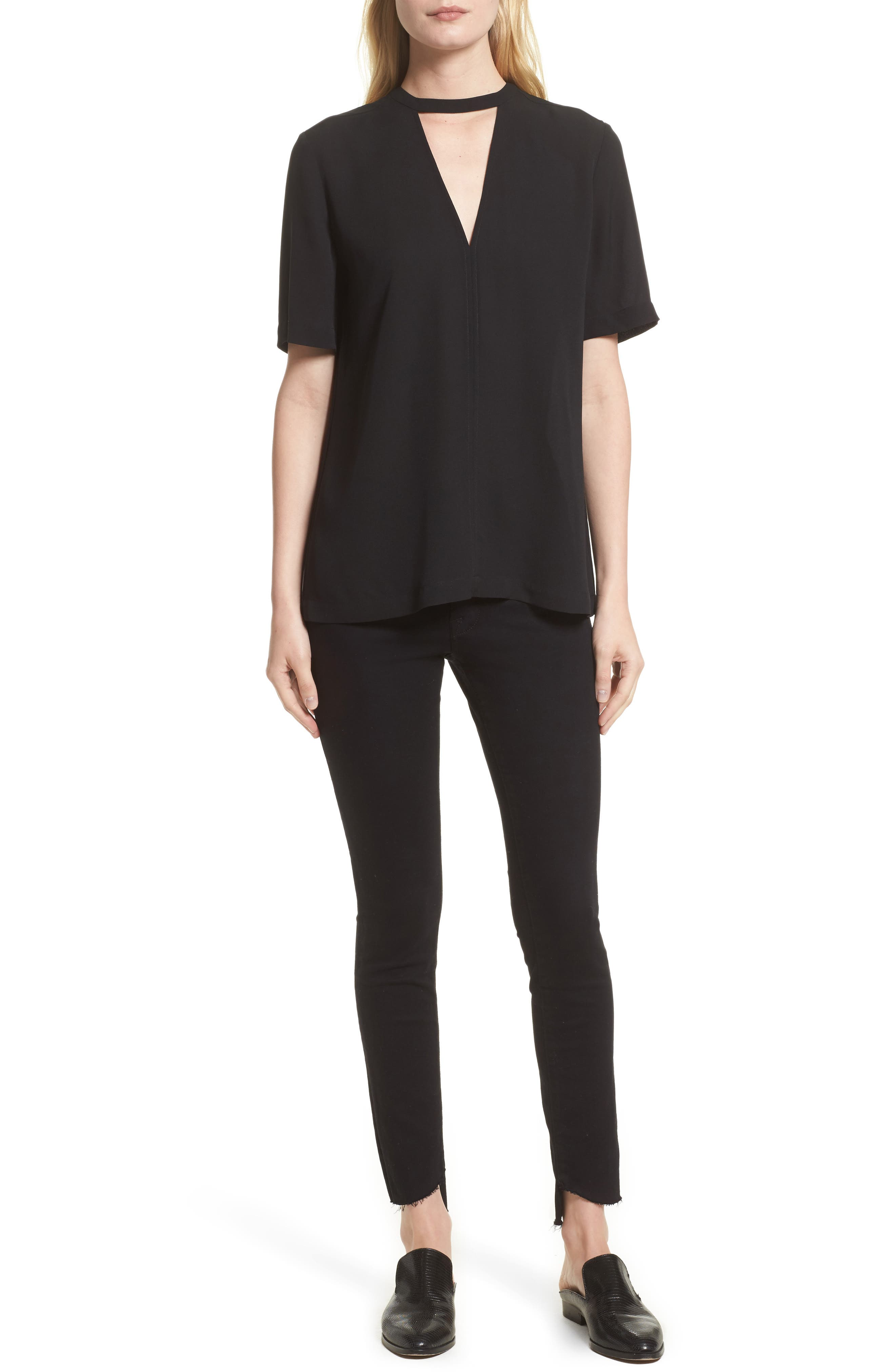 Alternate Image 10  - FRAME Le High Skinny Step Hem Jeans (Film Noir) (Nordstrom Exclusive)