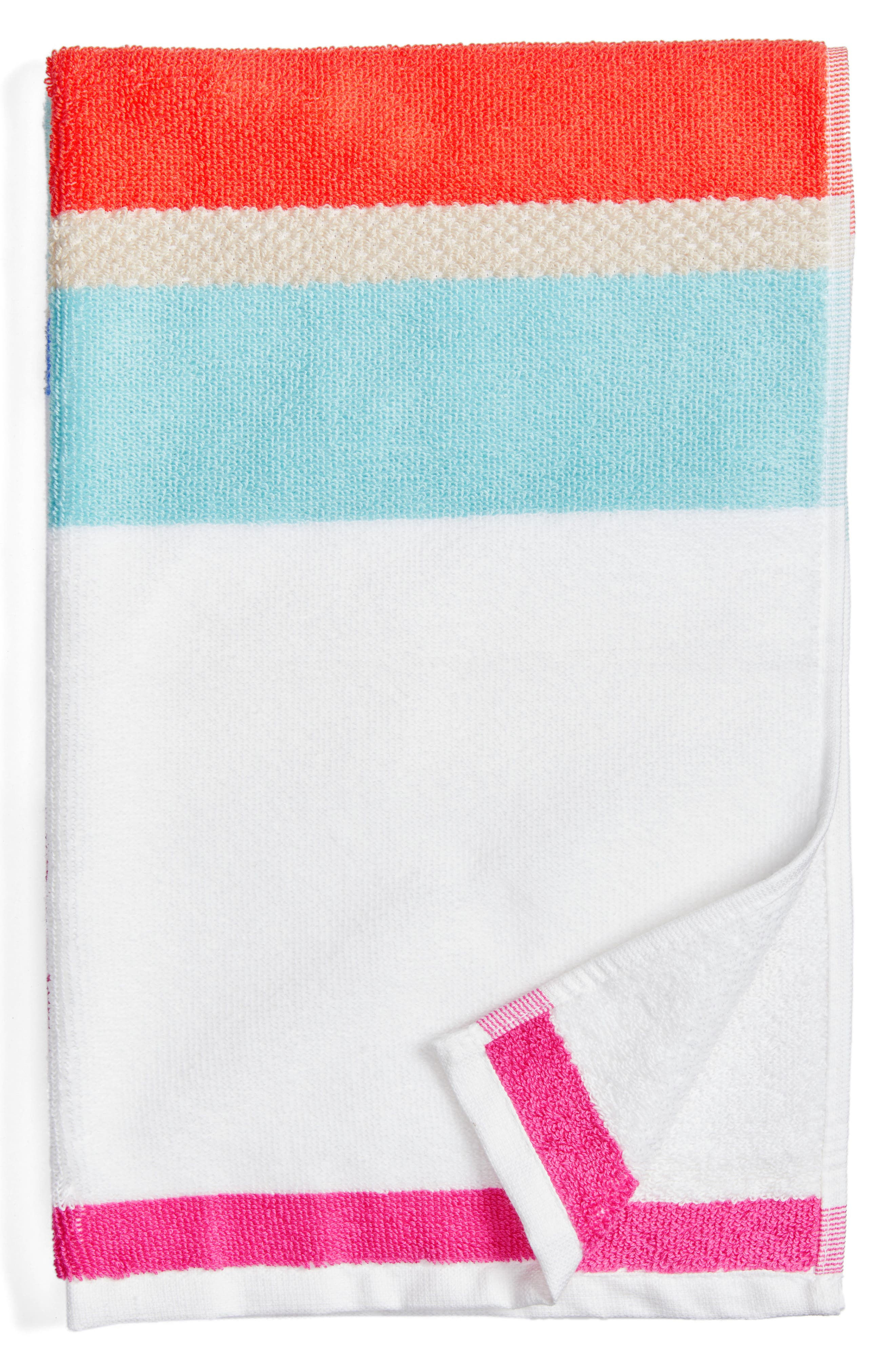 paintball floral hand towel,                             Main thumbnail 1, color,                             Pink/ Multi