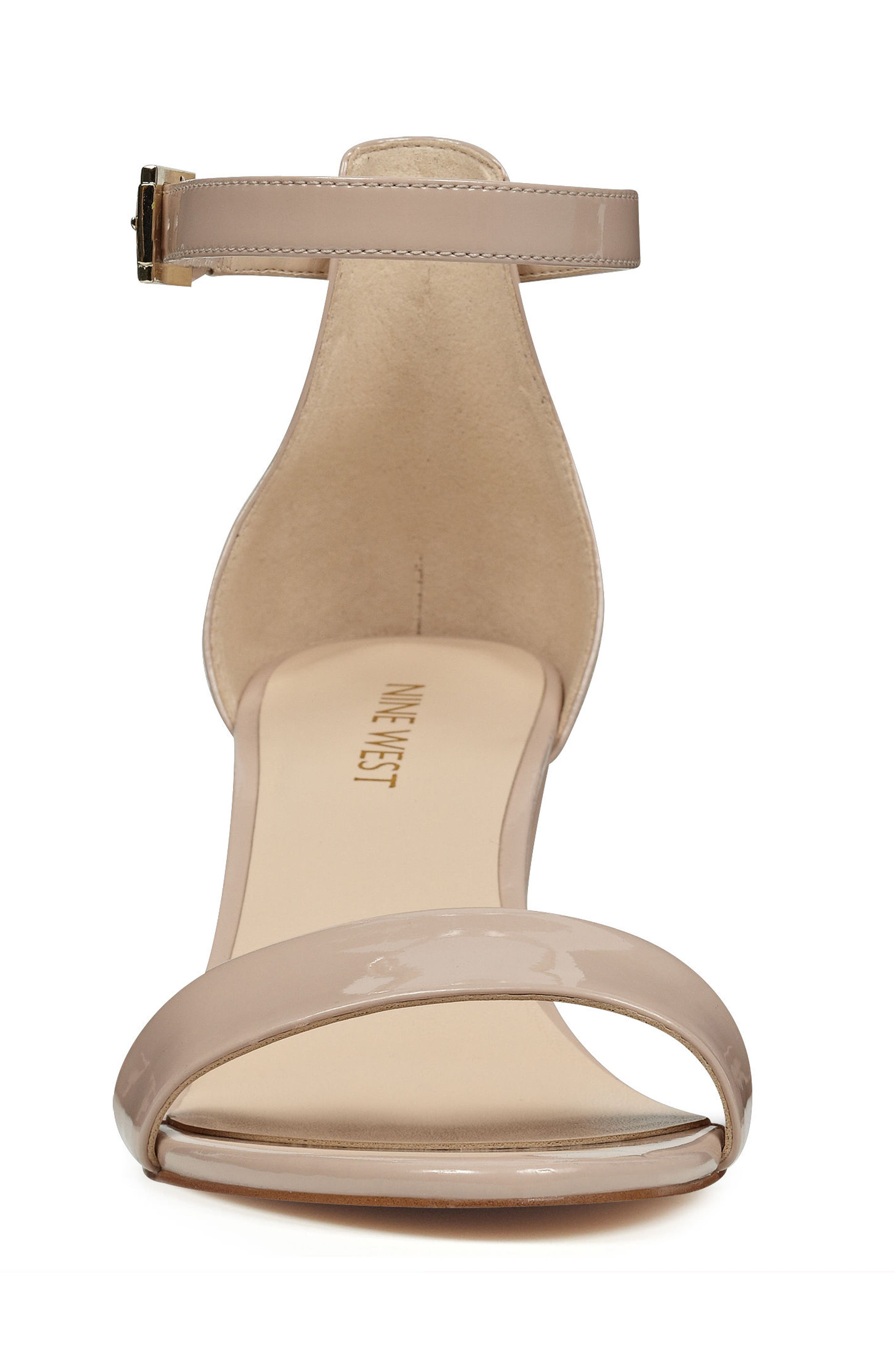 Pruce Ankle Strap Sandal,                             Alternate thumbnail 3, color,                             Natural Patent