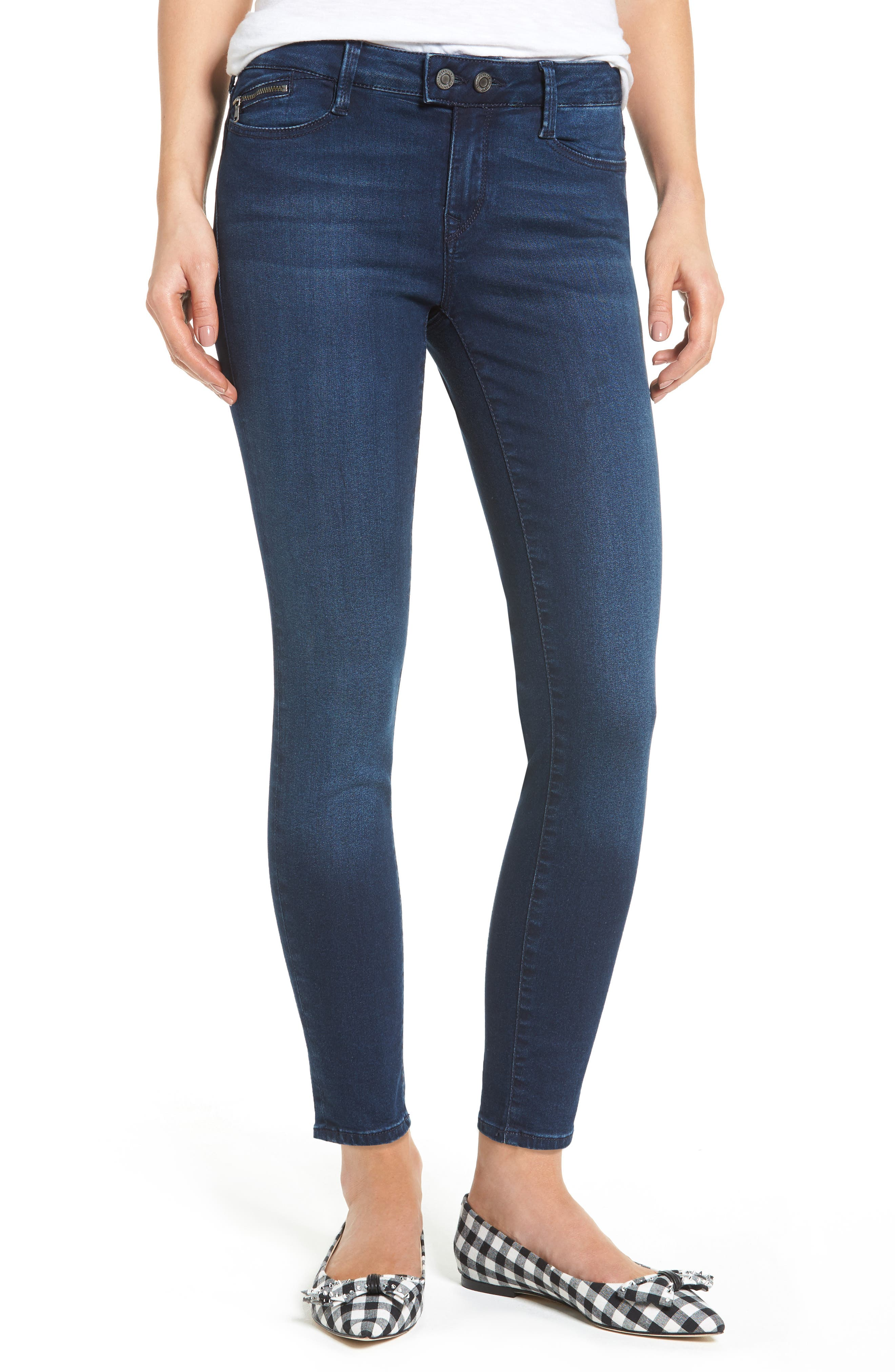 Mavi Jeans Adriana Skinny Ankle Jeans (Ink Indigo)