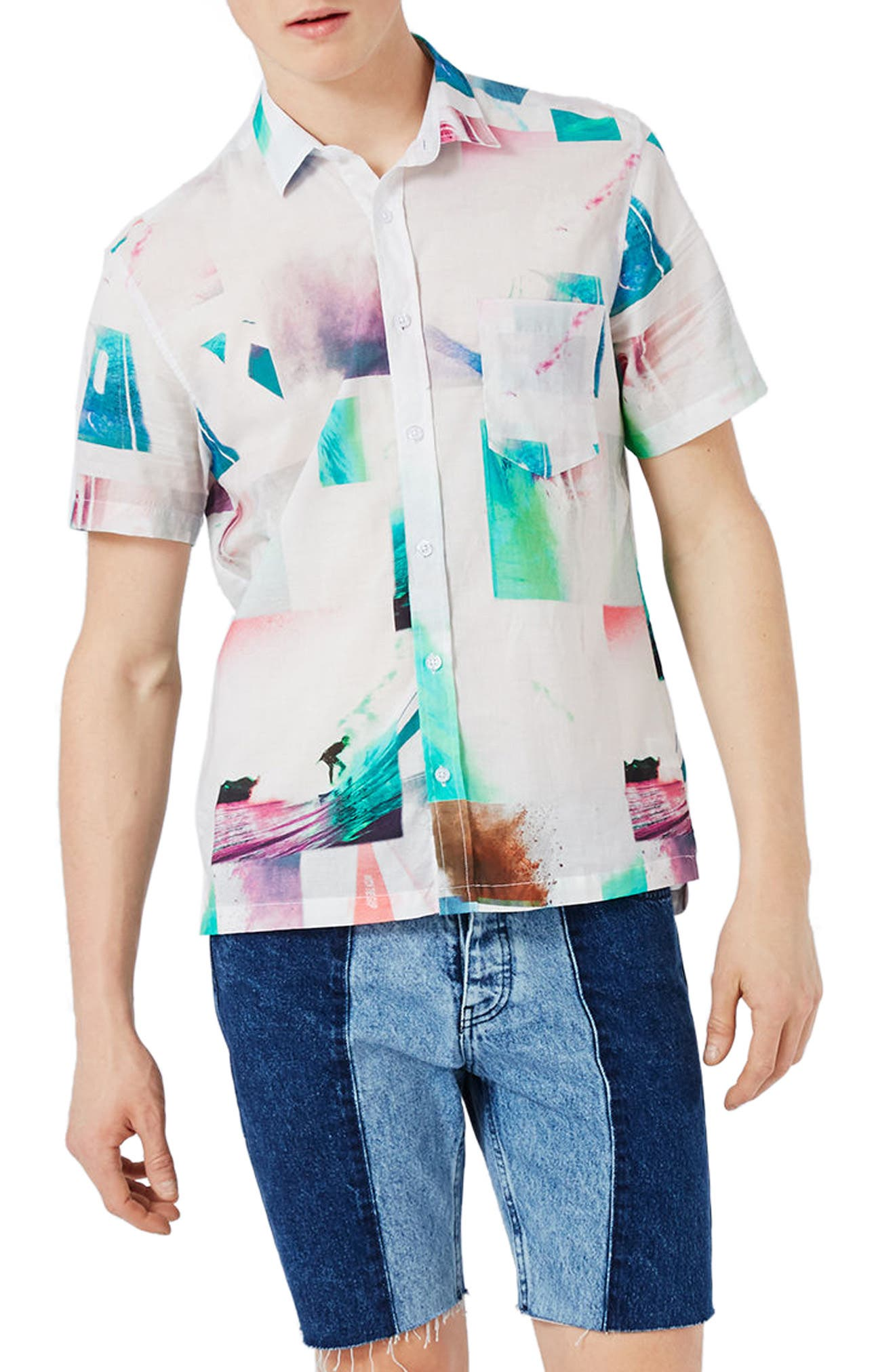Topman Photo Print Shirt
