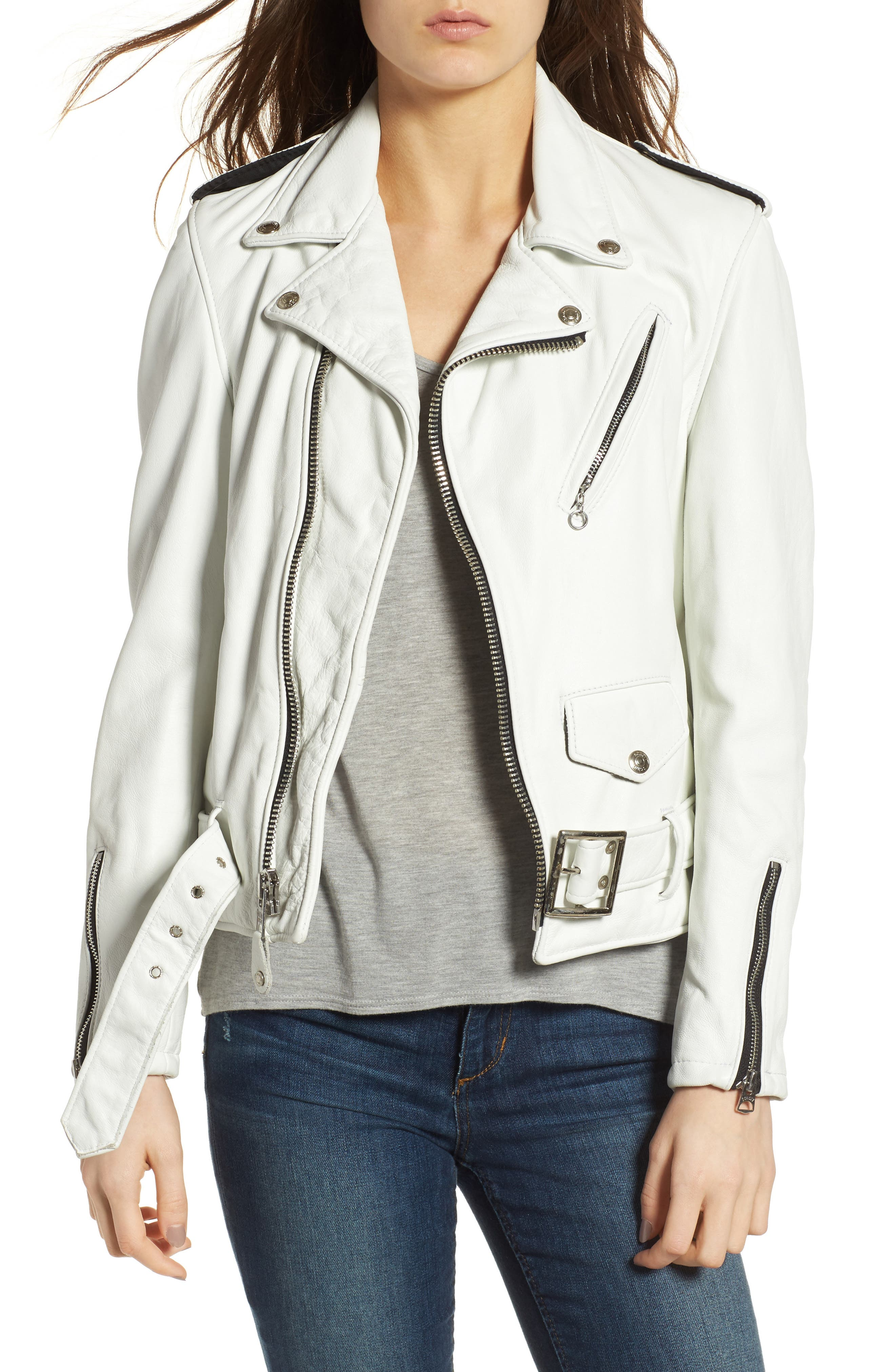 Alternate Image 1 Selected - Schott NYC Boyfriend Leather Jacket