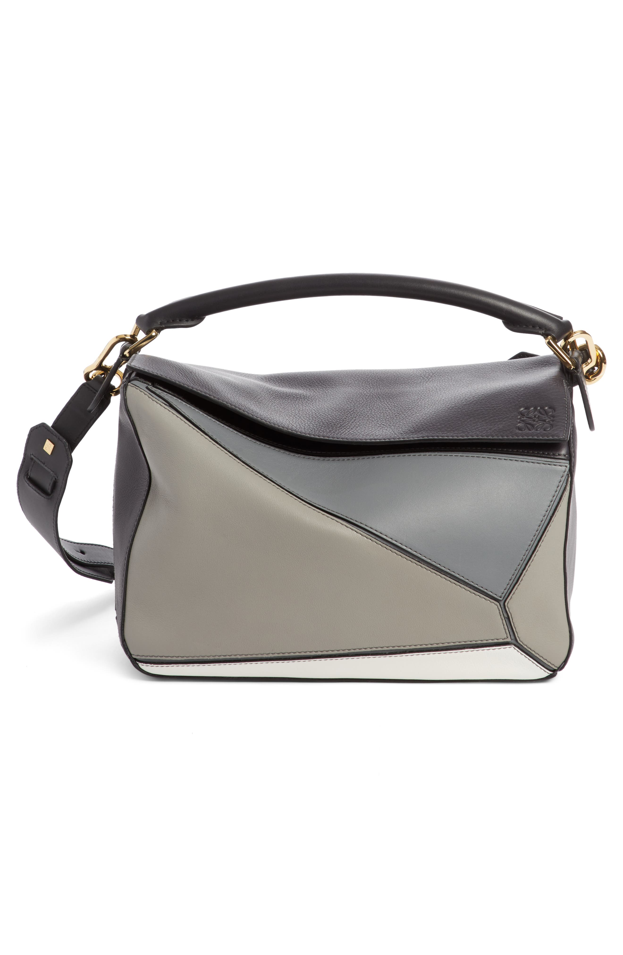 Loewe Medium Puzzle Colorblock Leather Shoulder Bag