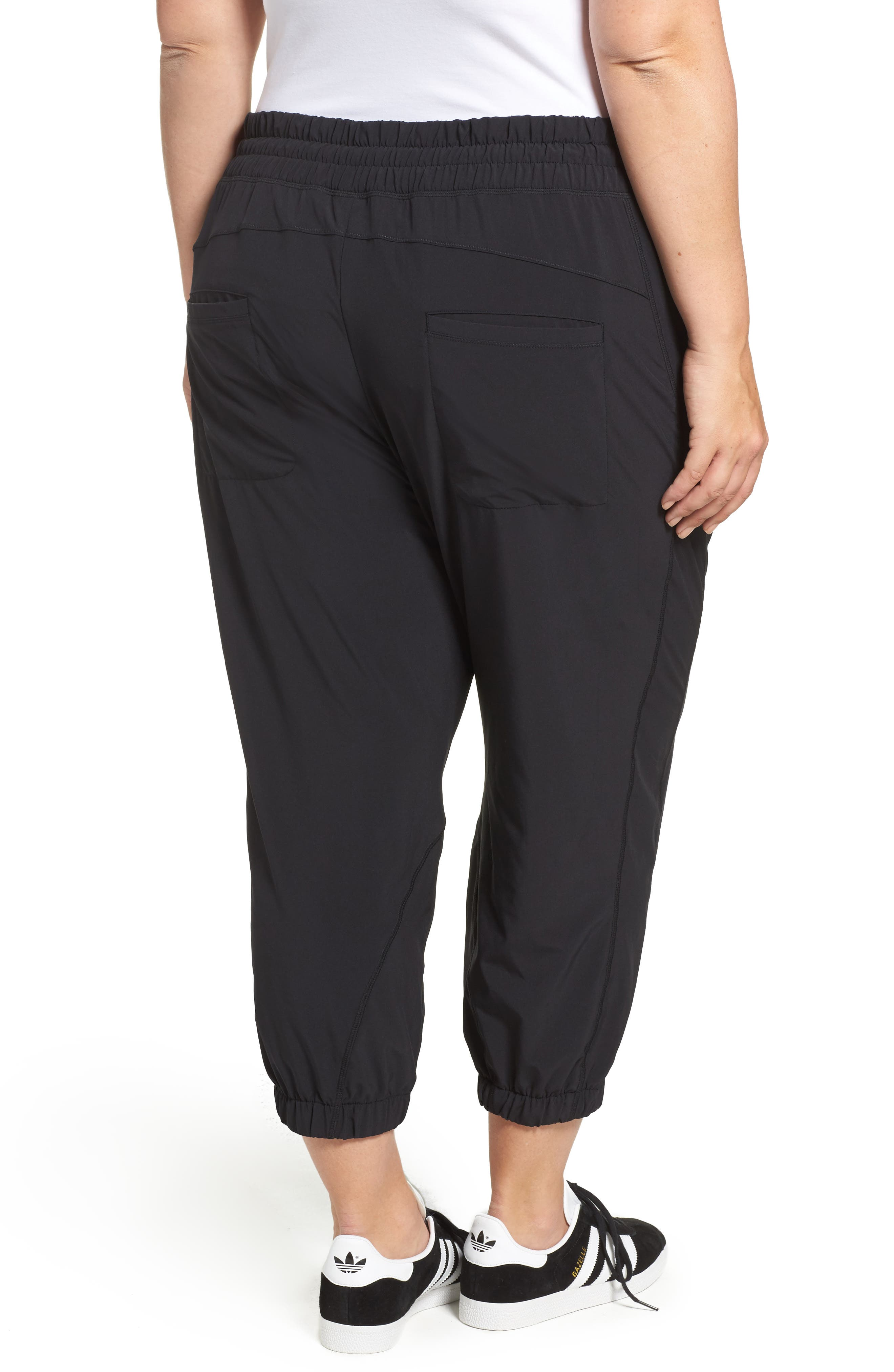 Alternate Image 2  - Zella Out & About Crop Jogger Pants (Plus Size)