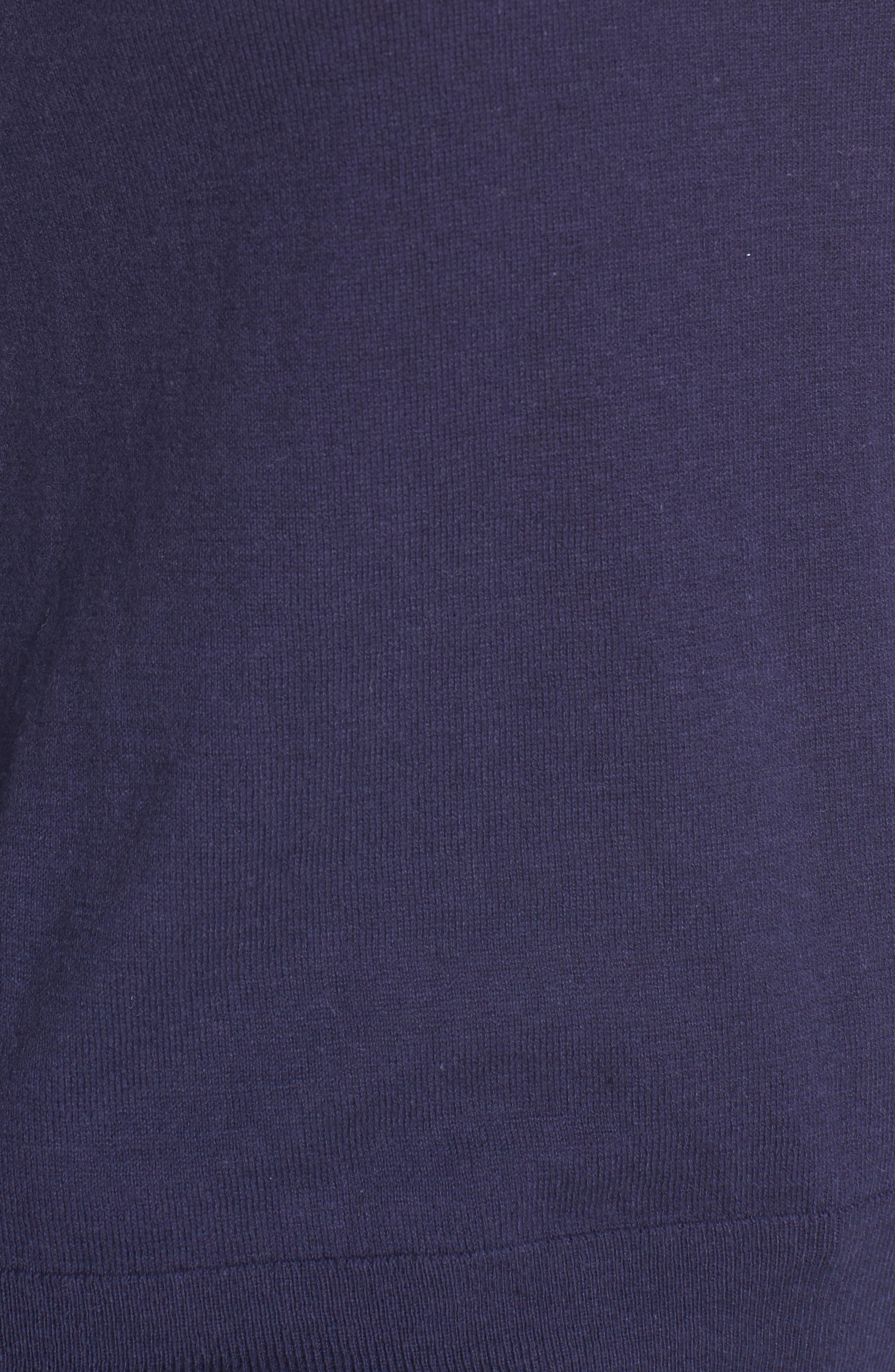 Ruffle Bell Cuff Sweater,                             Alternate thumbnail 5, color,                             Navy Dusk