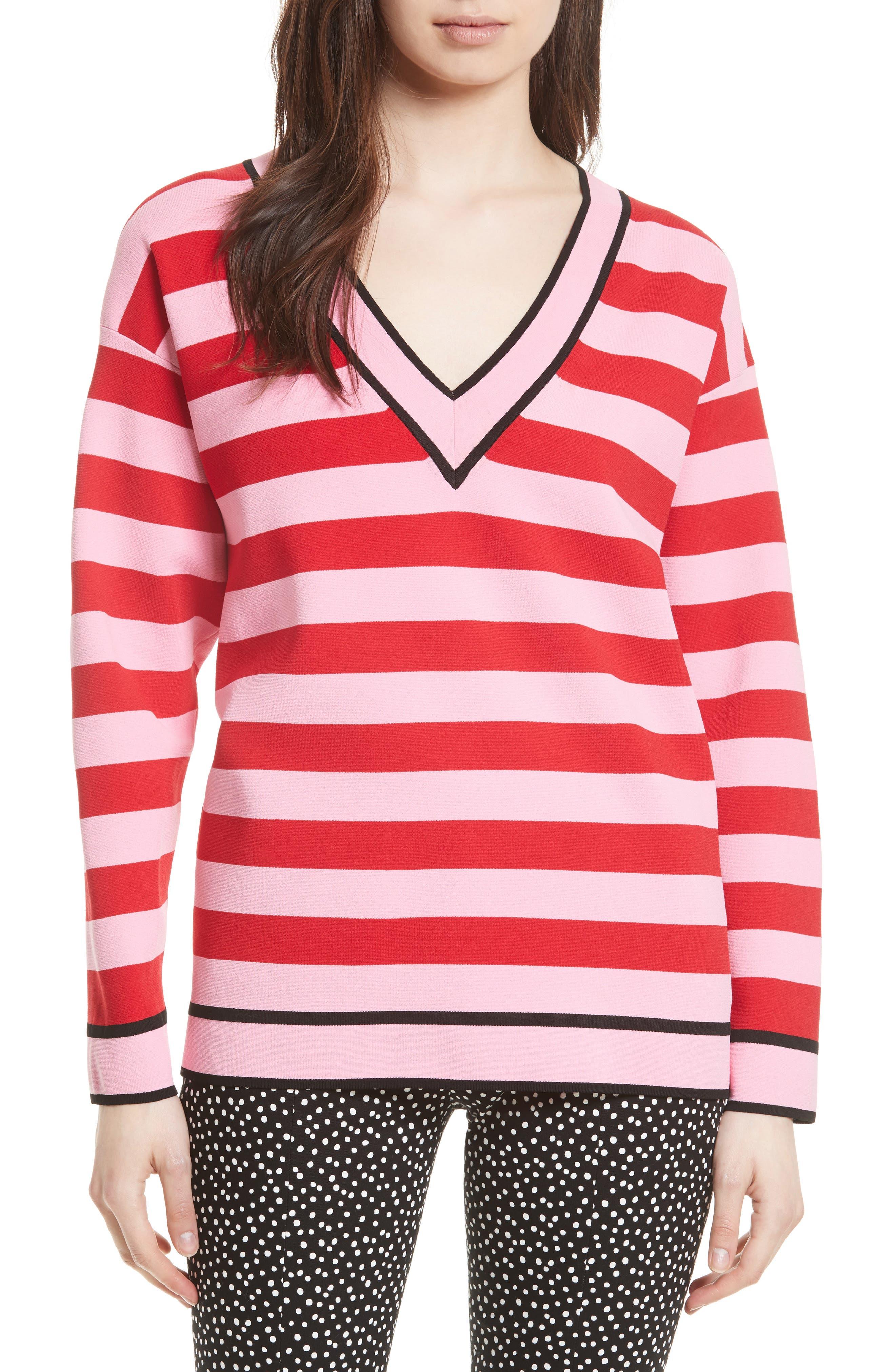DIANE VON FURSTENBERG Stripe Pullover