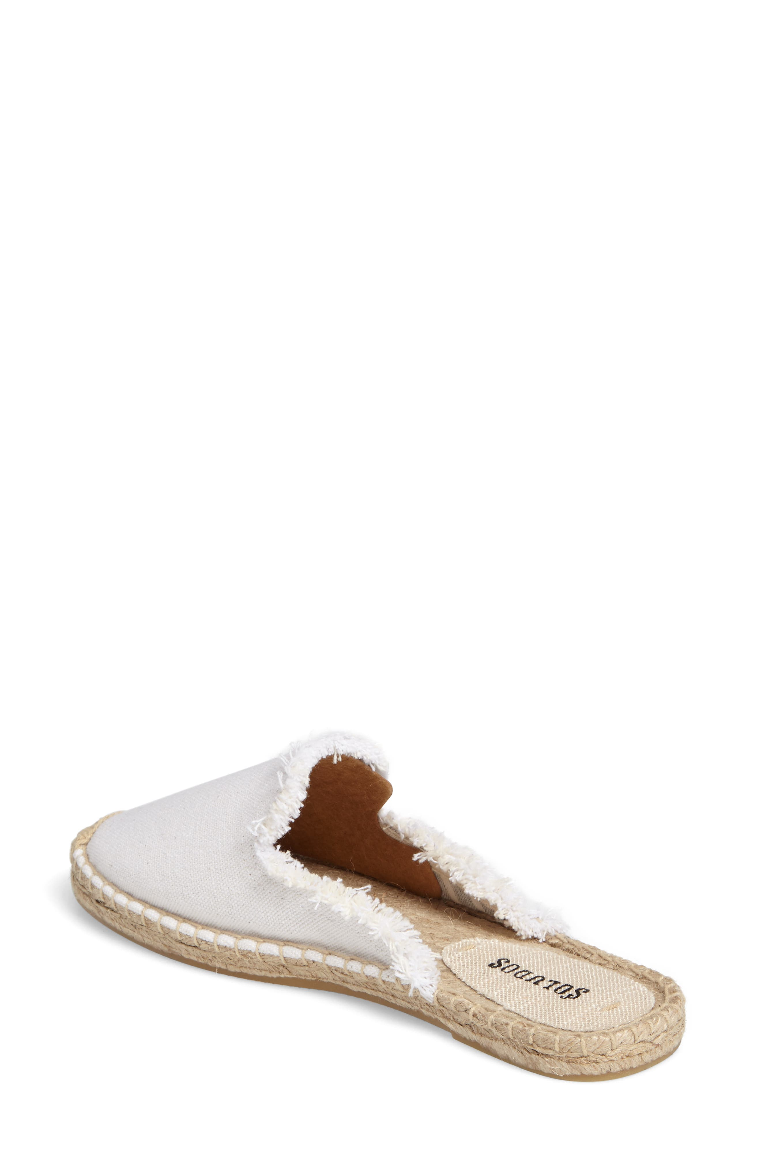 Frayed Loafer Mule,                             Alternate thumbnail 2, color,                             White Canvas