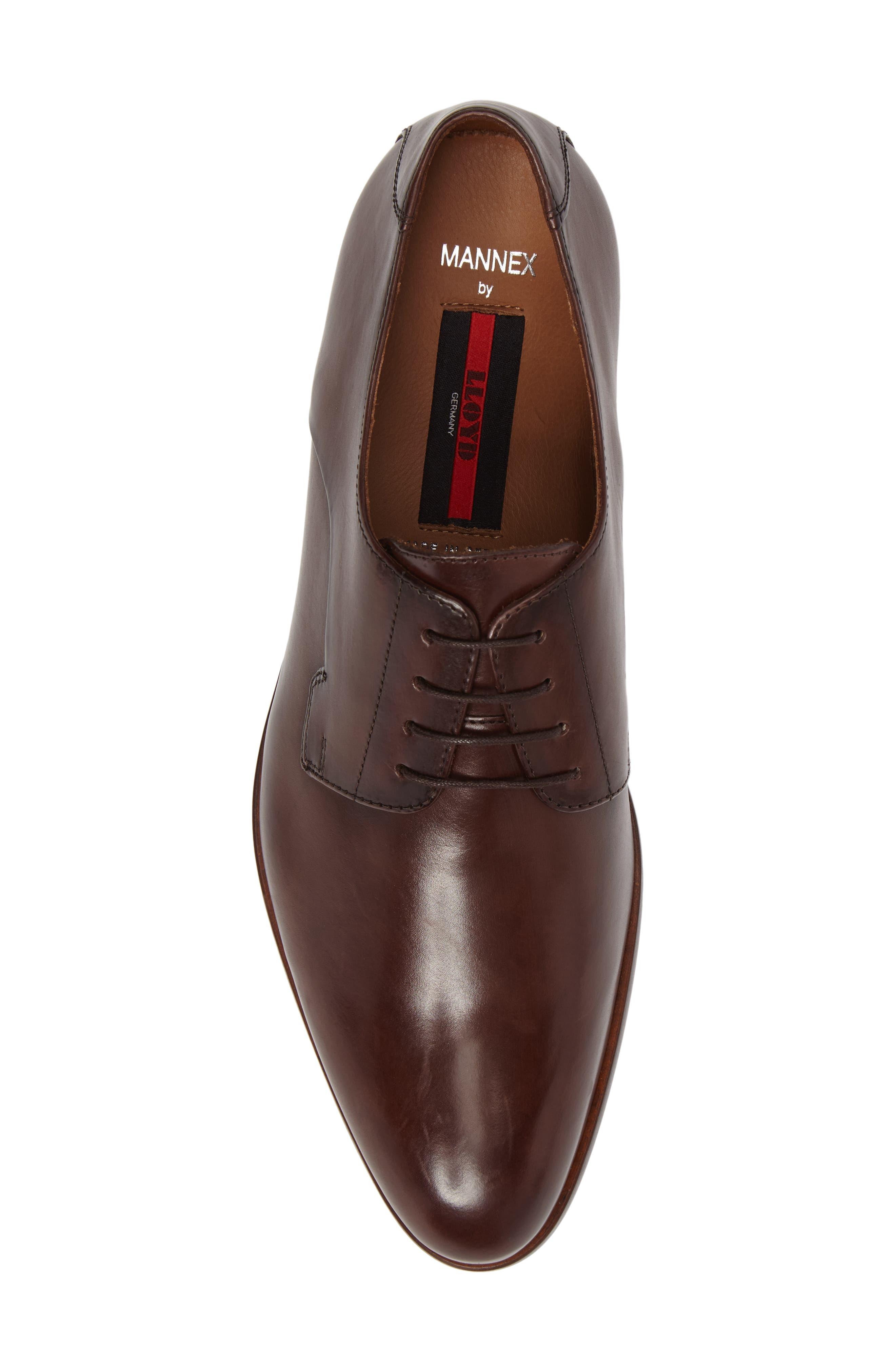 Mannex Plain Toe Derby,                             Alternate thumbnail 5, color,                             T.D.Moro Leather