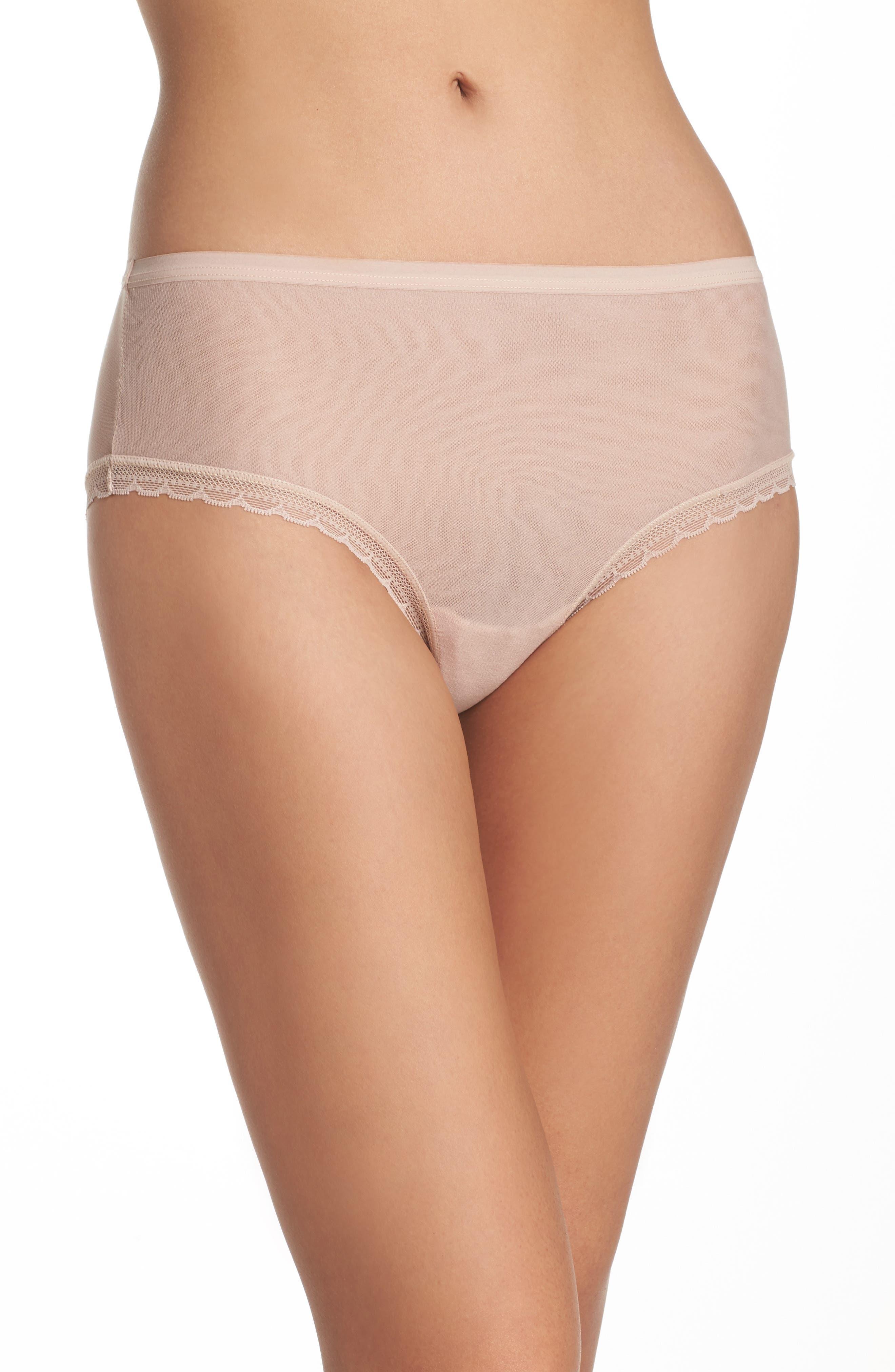 On Gossamer Modern Mesh Panties (3 for $45)