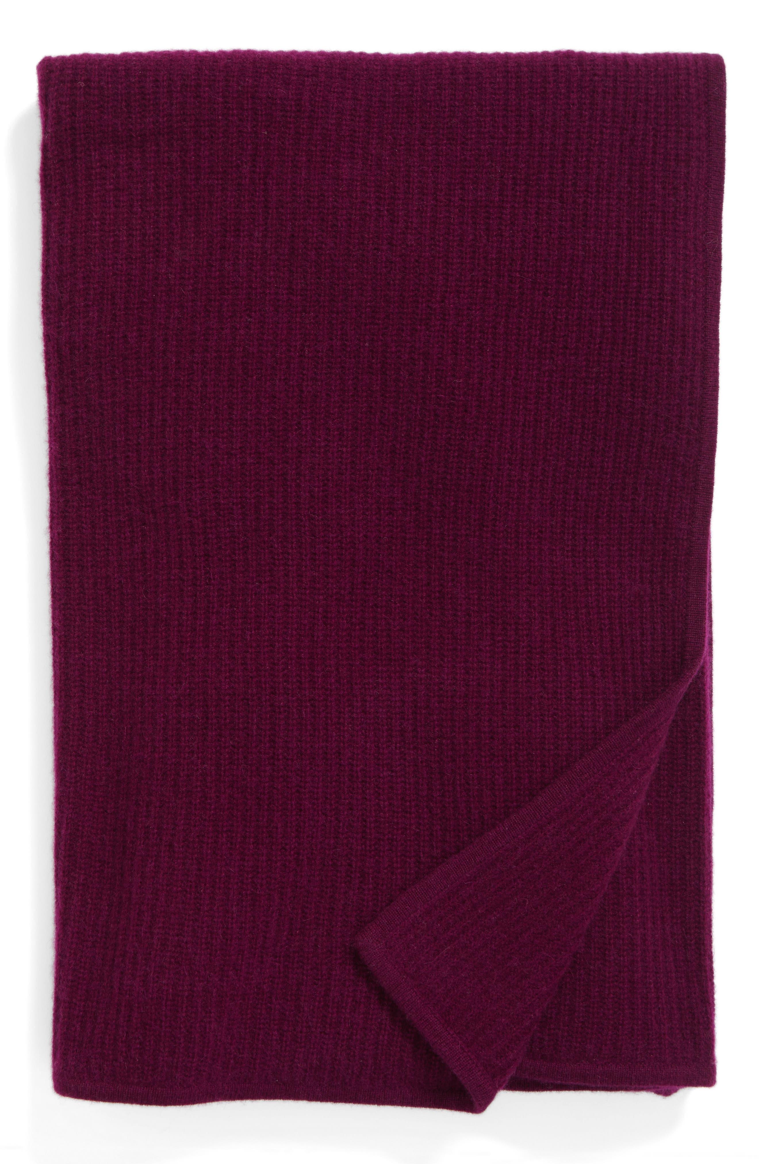 Lattice Cashmere Throw Blanket,                         Main,                         color, Purple Dark