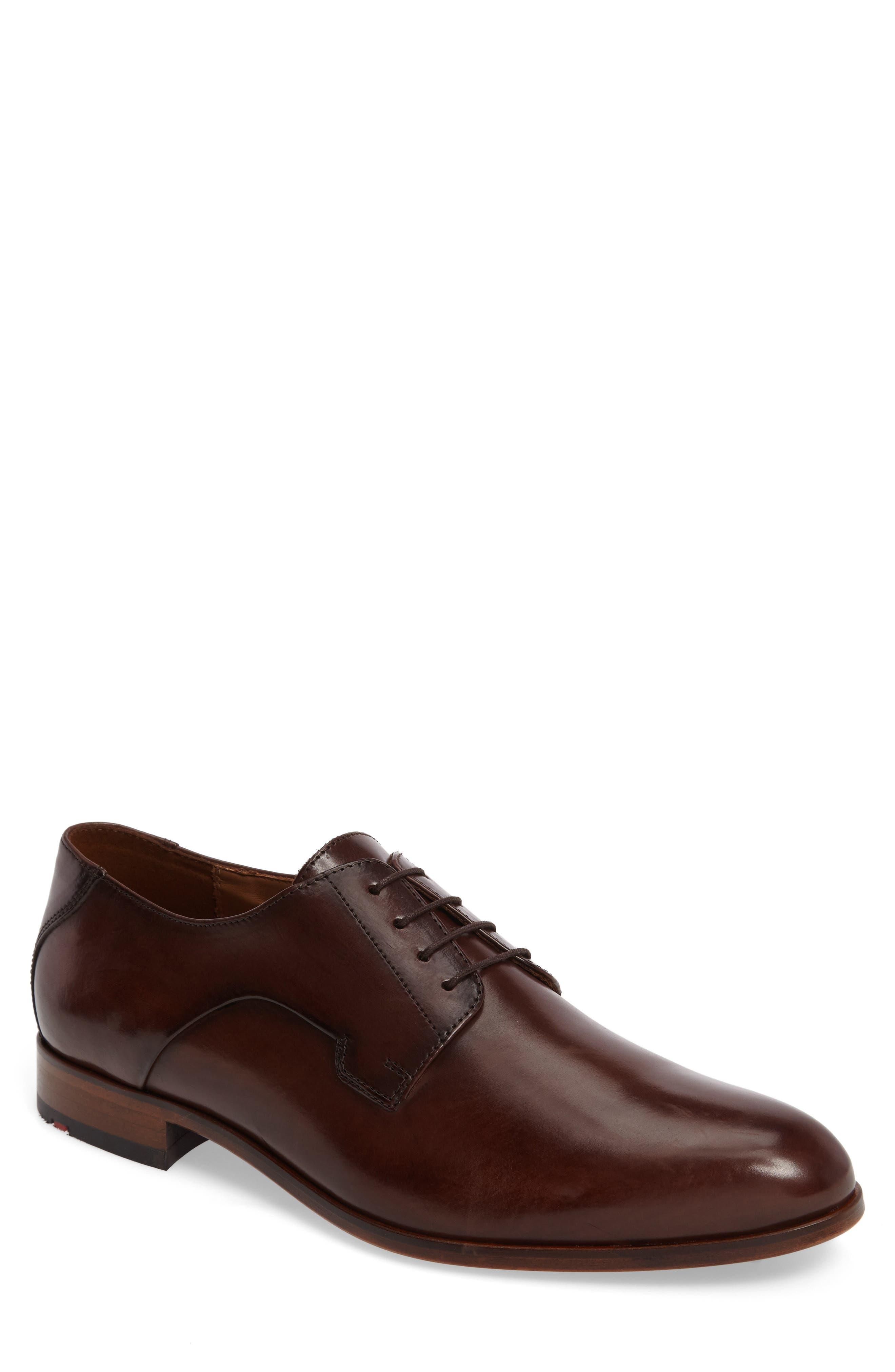 Mannex Plain Toe Derby,                         Main,                         color, T.D.Moro Leather