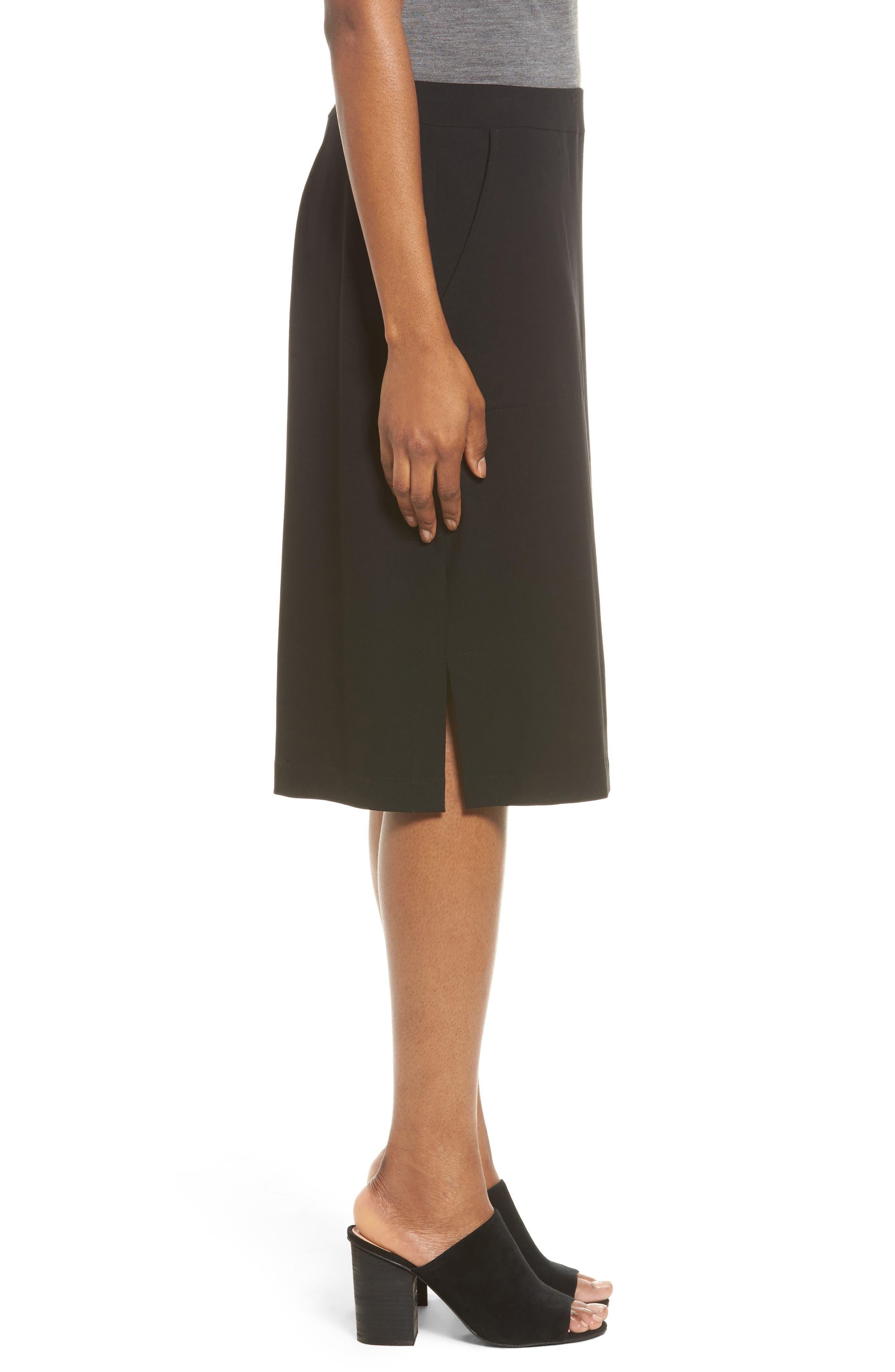 Alternate Image 3  - Eileen Fisher Side Slit Jersey Skirt