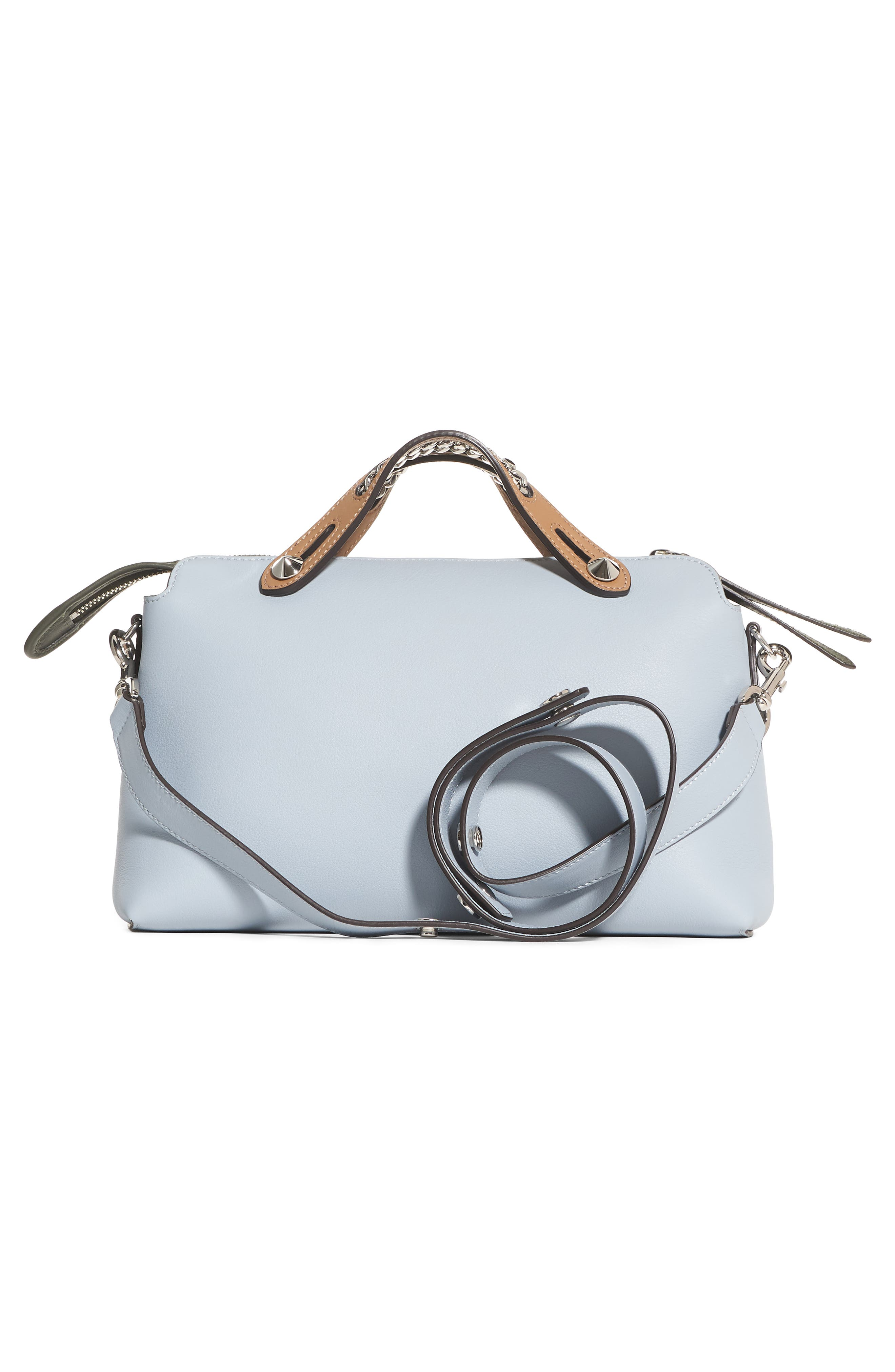 Small By the Way Leather Shoulder Bag,                             Alternate thumbnail 2, color,                             Blue Powder