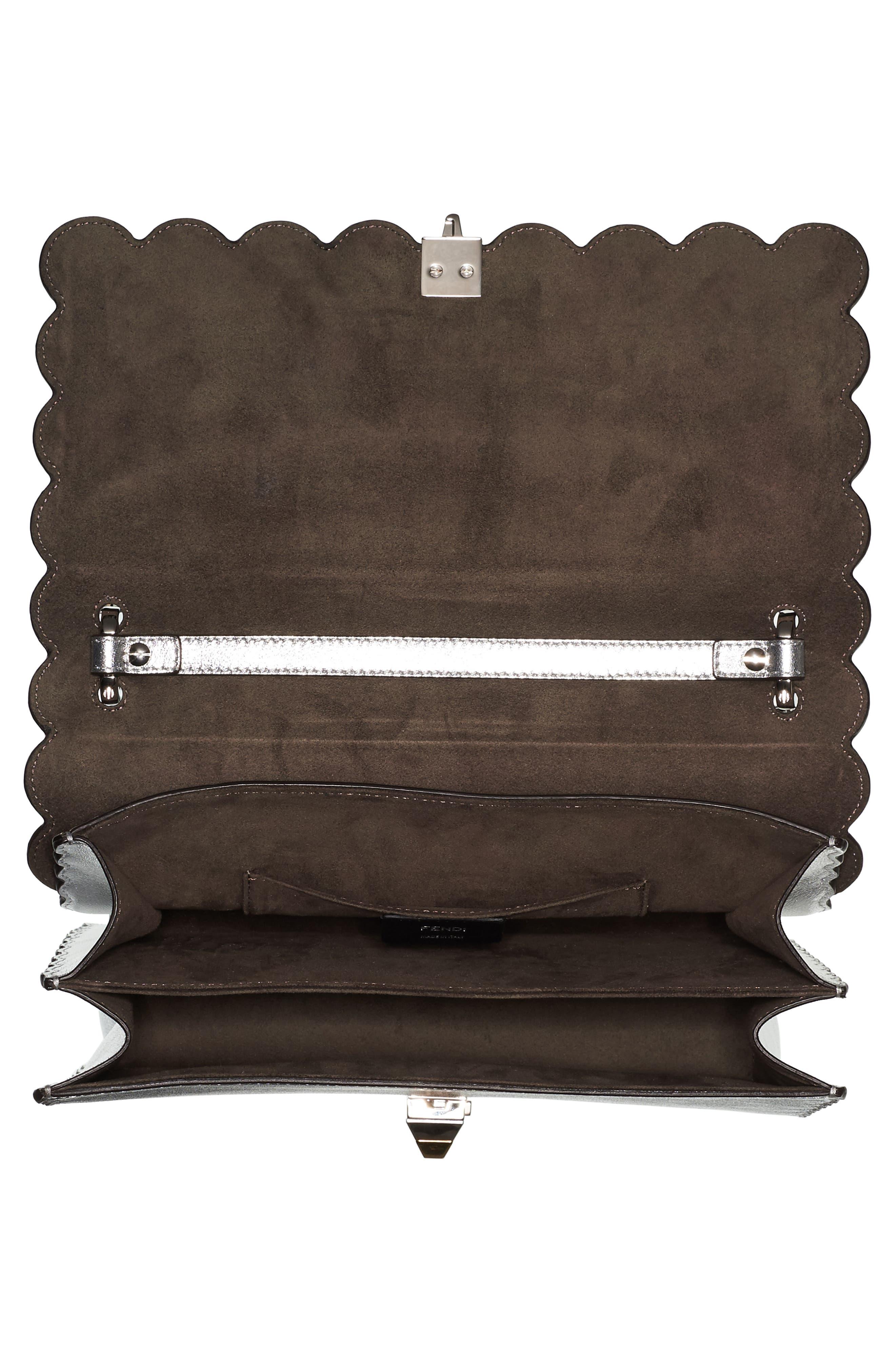 Kan I Leather Shoulder Bag,                             Alternate thumbnail 3, color,                             Silver Graphite Multi
