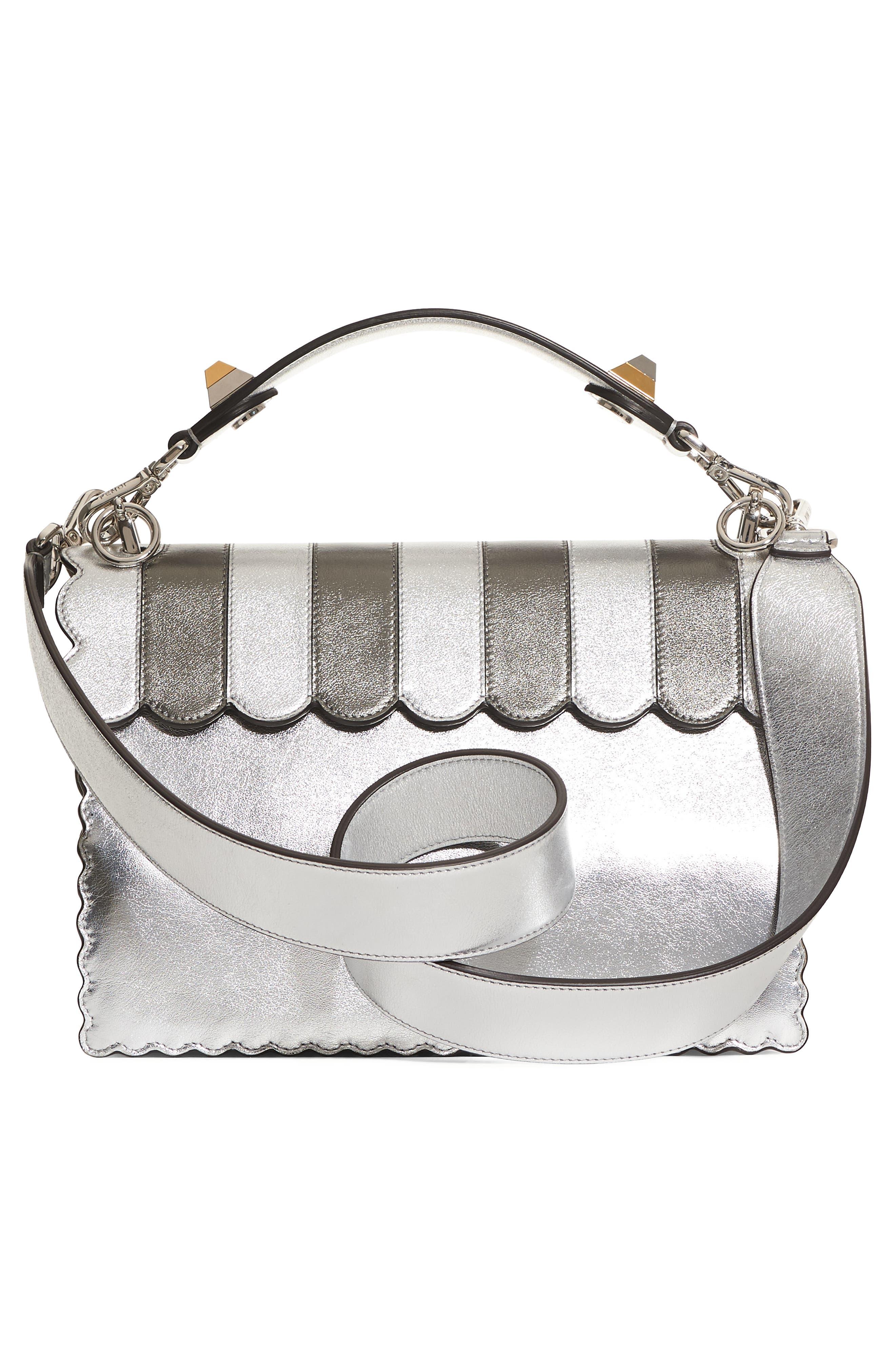 Kan I Leather Shoulder Bag,                             Alternate thumbnail 2, color,                             Silver Graphite Multi