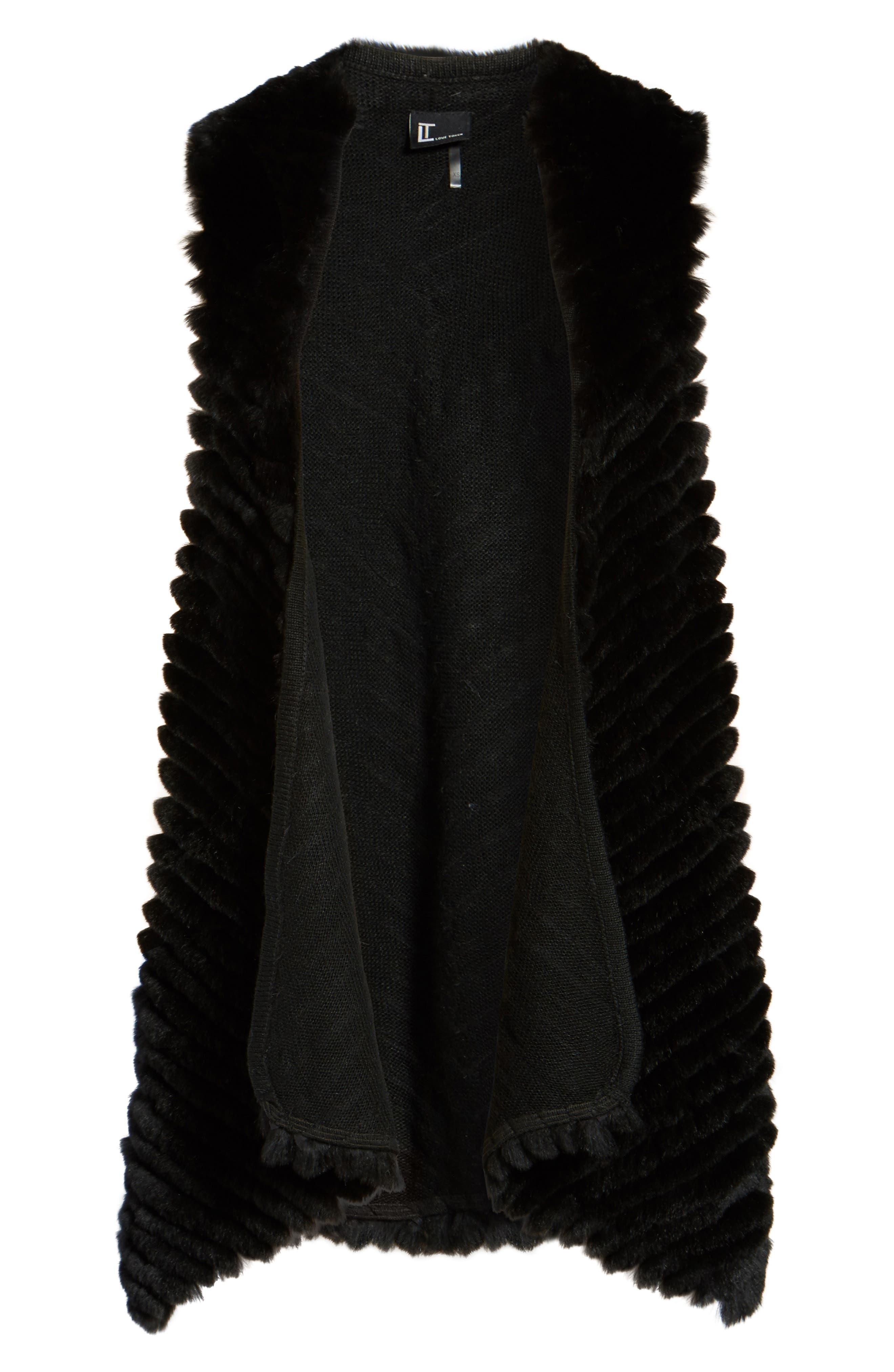 Alternate Image 5  - Love Token Genuine Rabbit Fur Vest