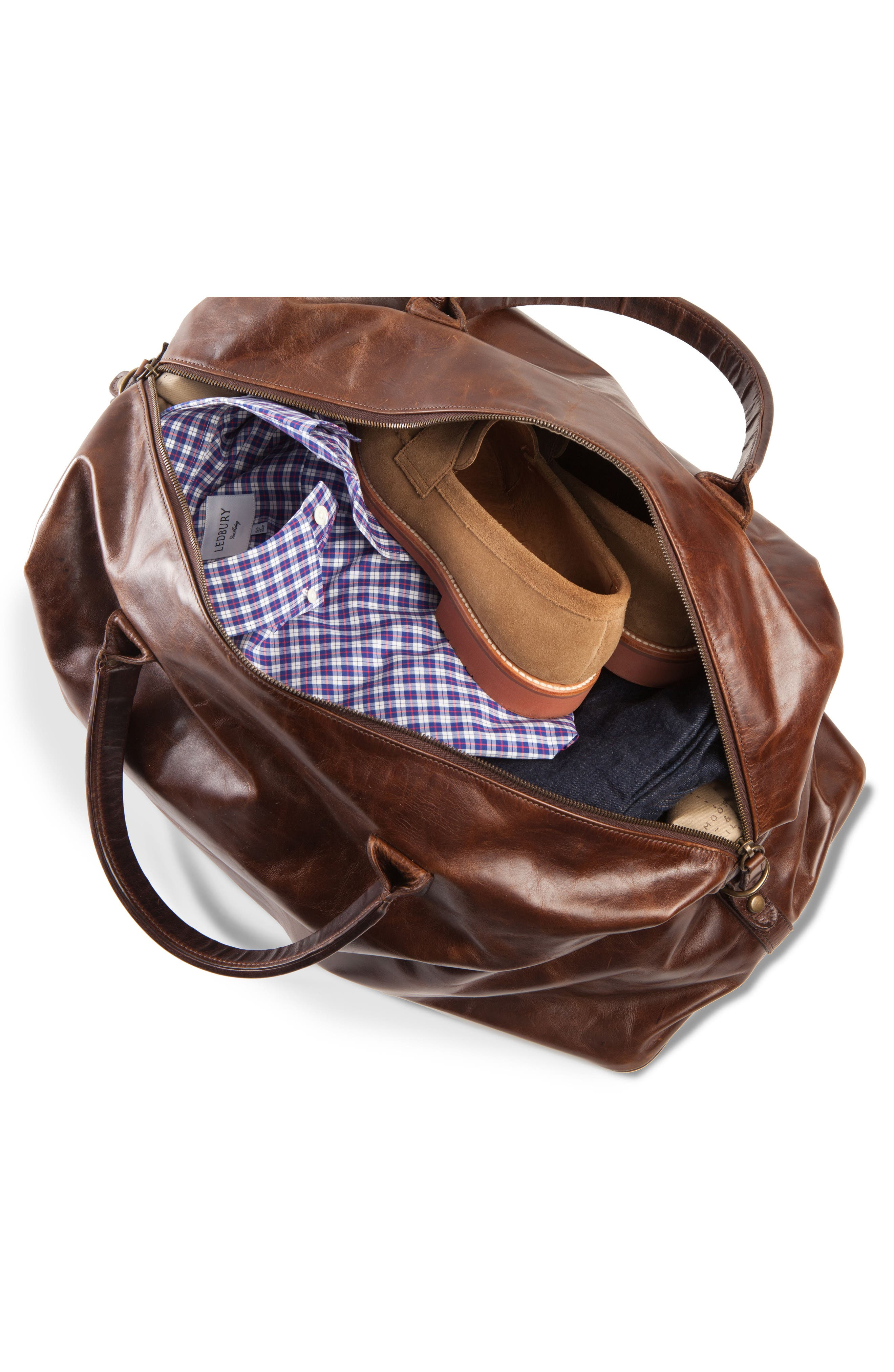 Alternate Image 2  - Moore & Giles Benedict Leather Duffel Bag