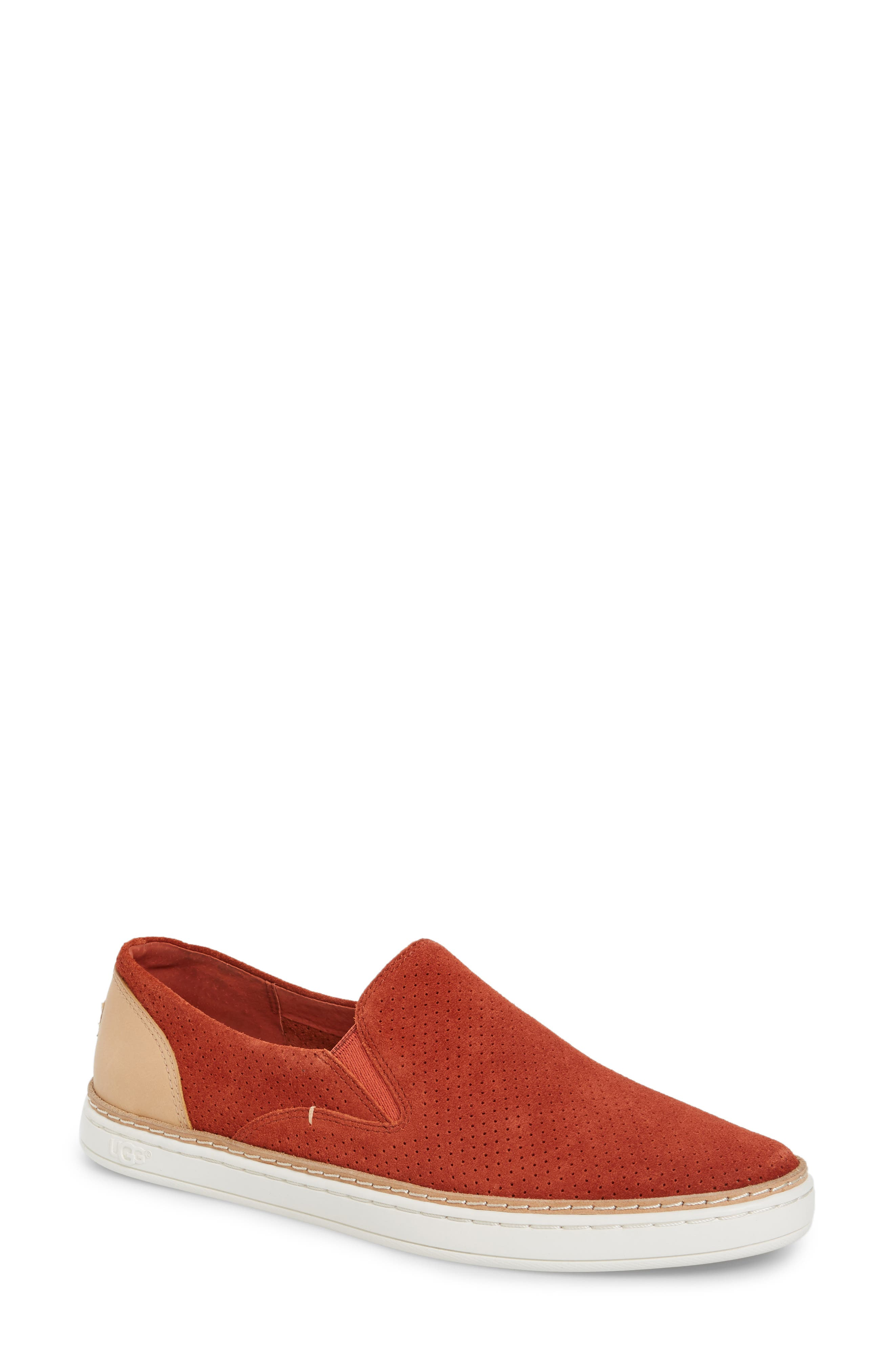 Adley Slip-On Sneaker,                             Main thumbnail 1, color,                             Paprika Suede