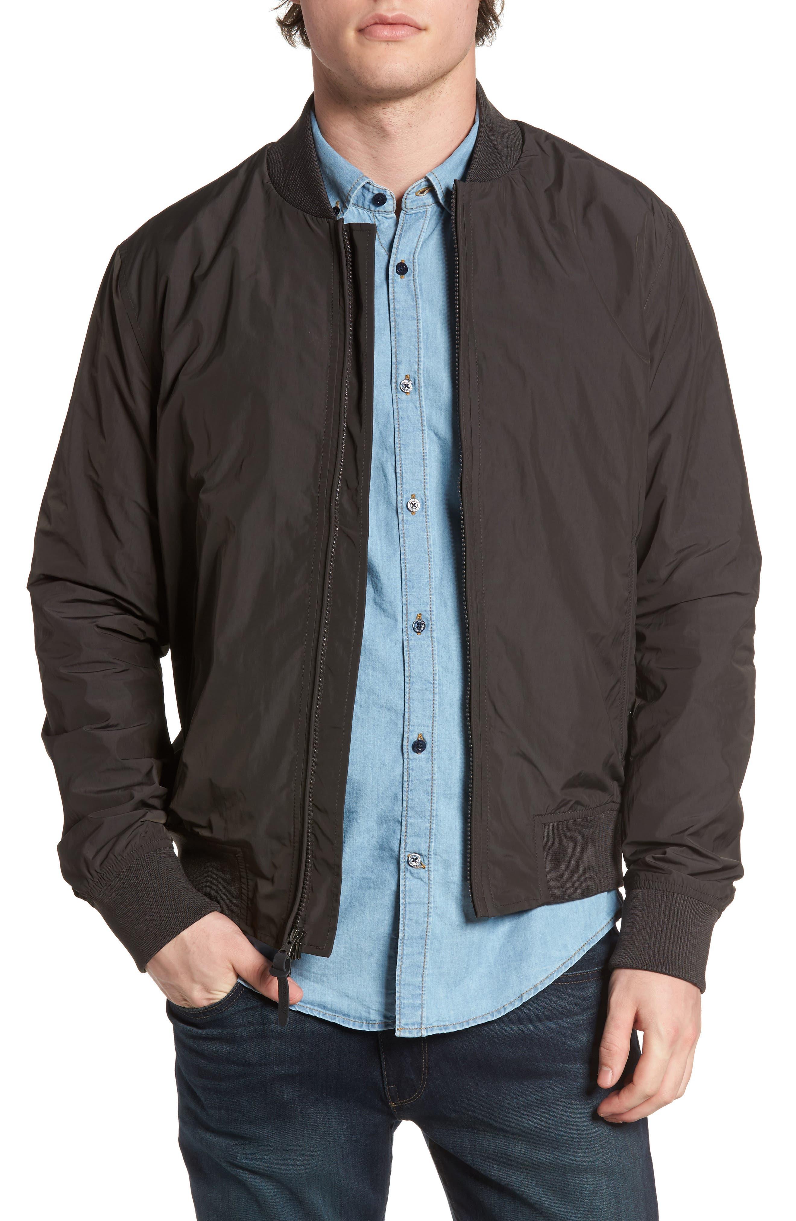 John Rich Shore Bomber Jacket,                         Main,                         color, Faded Black