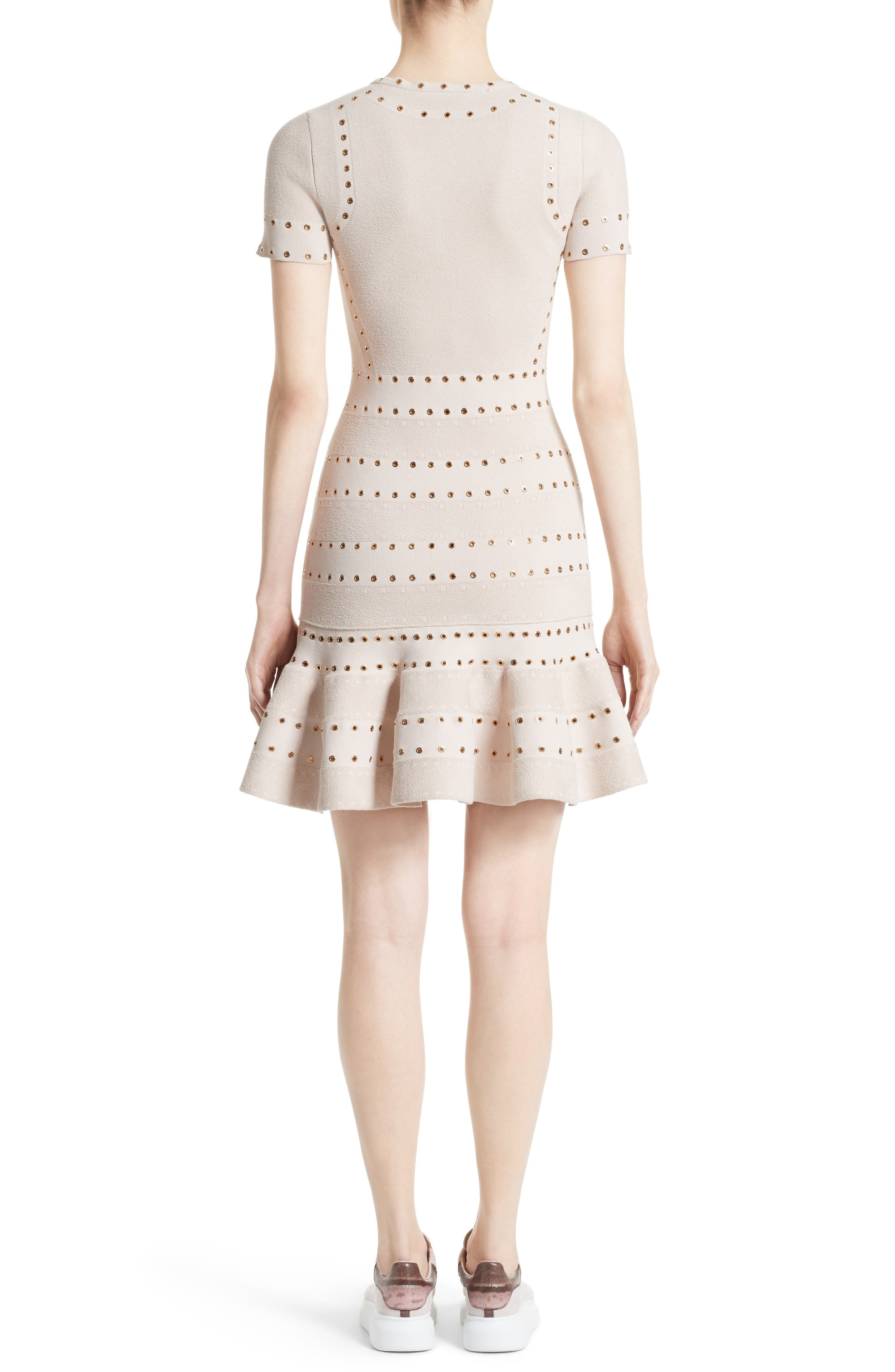 Alternate Image 2  - Alexander McQueen Eyelet Detail Knit Dress