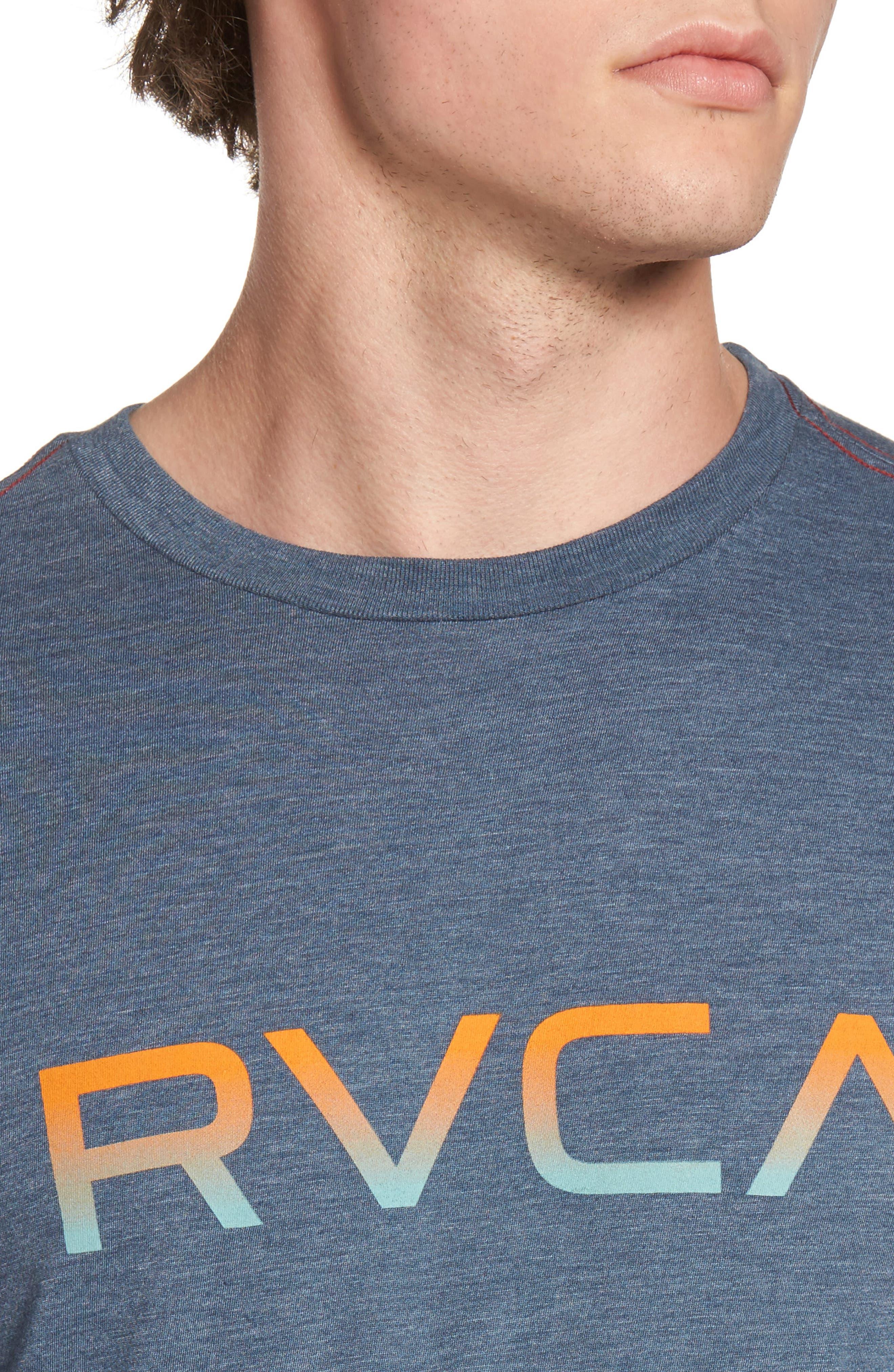 Alternate Image 4  - RVCA Gradient Logo Graphic T-Shirt