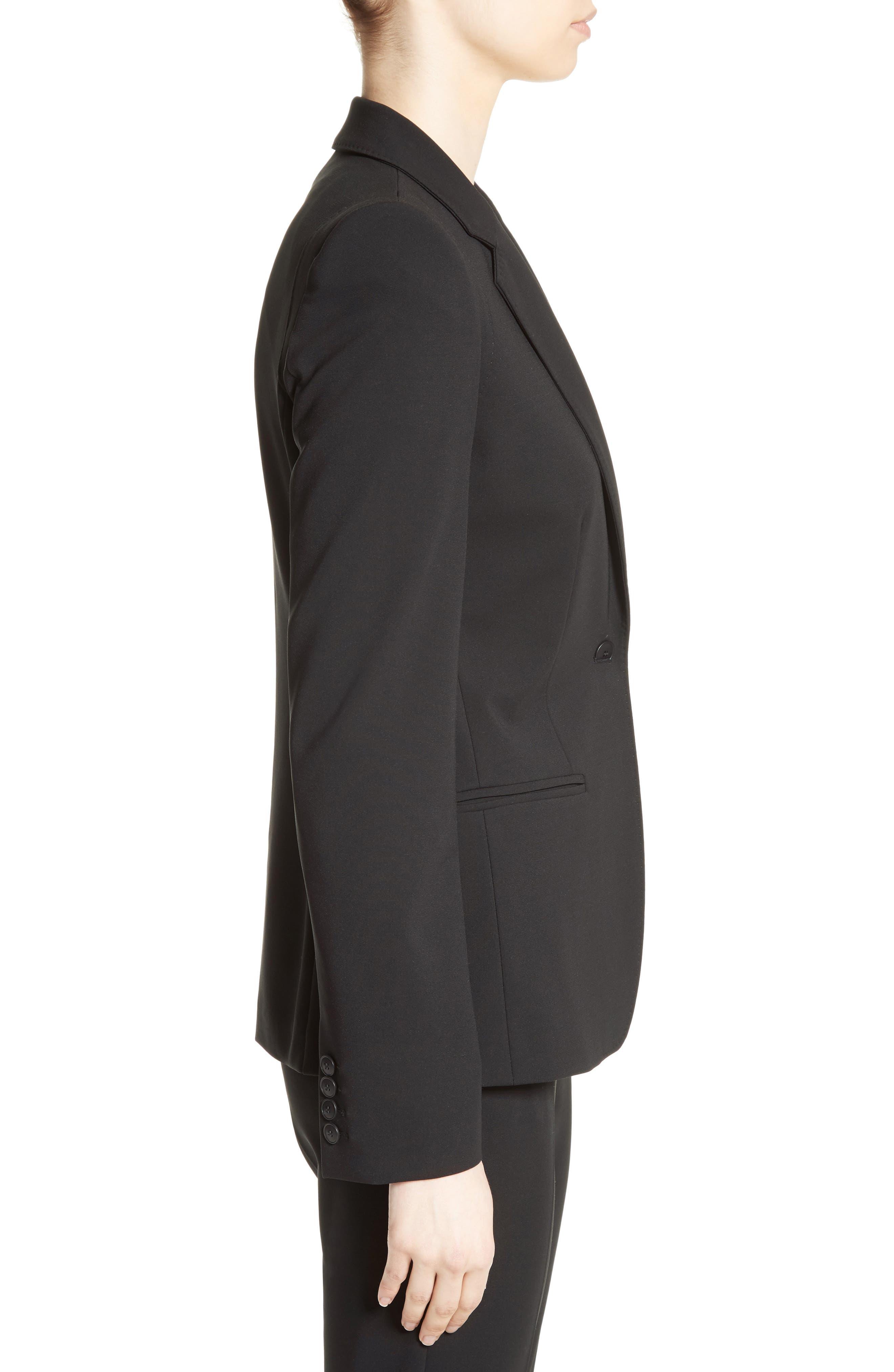 Bari Stretch Jersey Jacket,                             Alternate thumbnail 5, color,                             Black