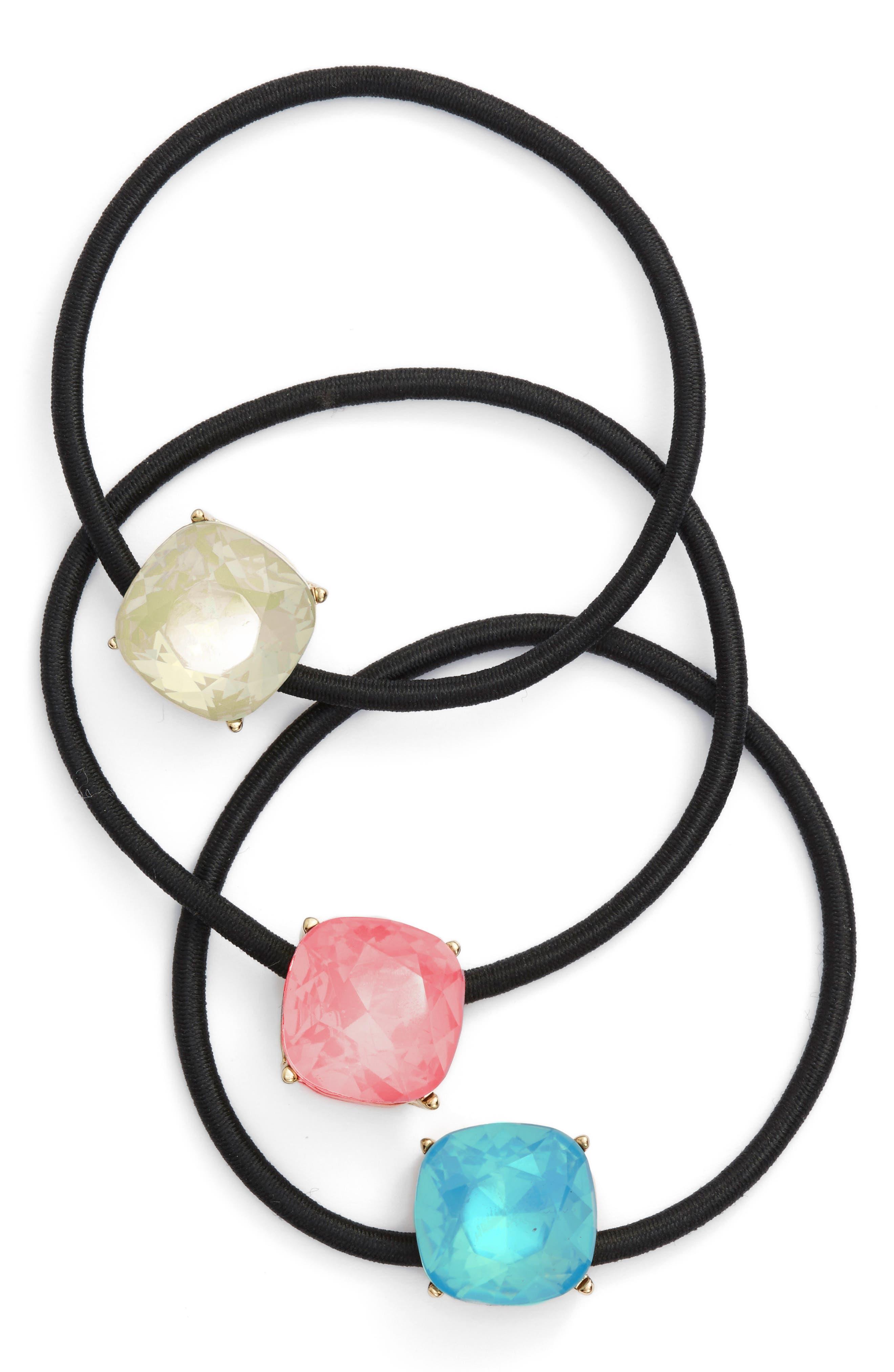 Alternate Image 1 Selected - Cara Crystal Hair Ties (3-Pack)