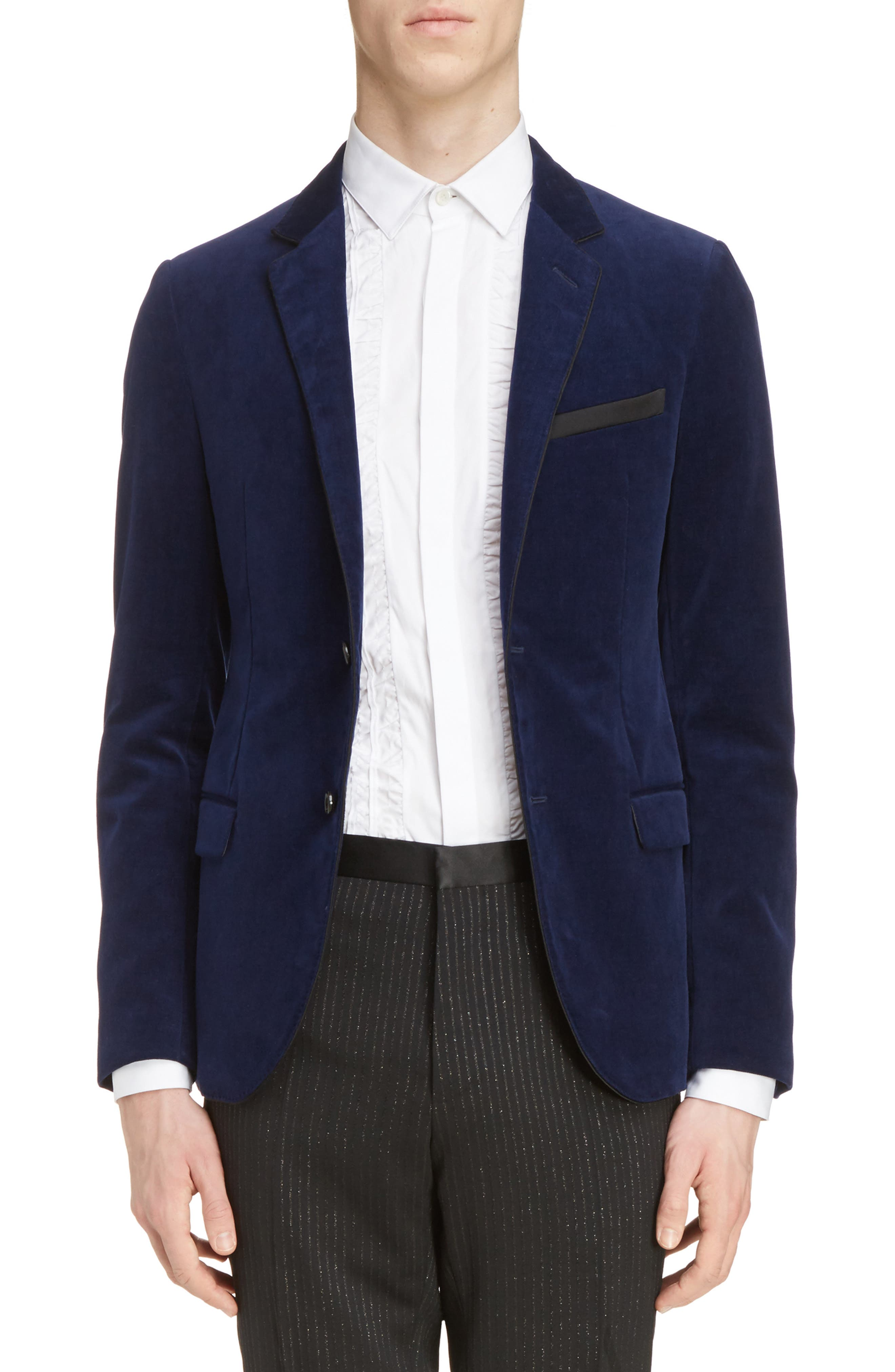 Lanvin Extra Slim Fit Velvet Jacket