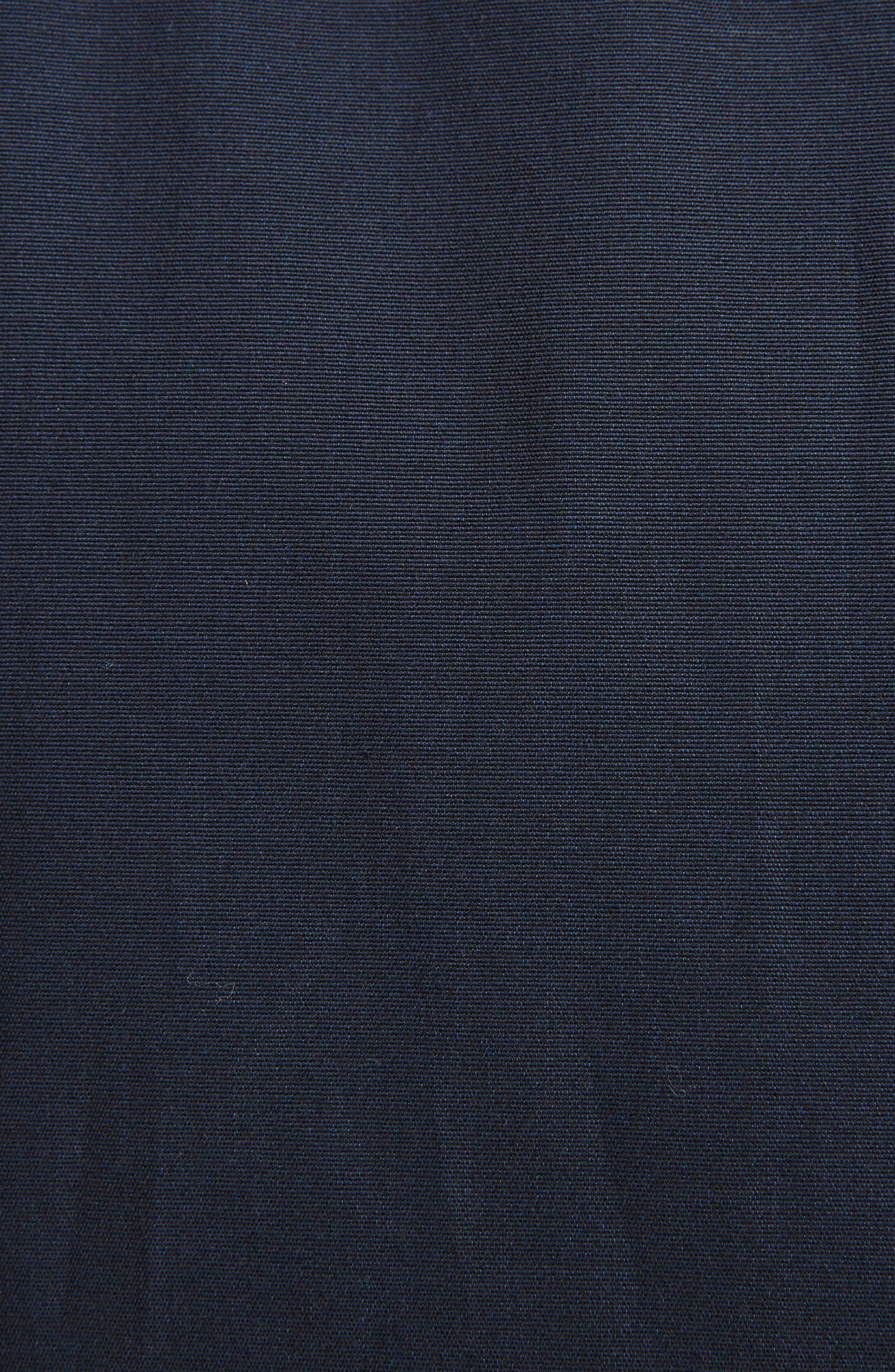 Zigzag Embroidered Cotton & Silk Sport Shirt,                             Alternate thumbnail 5, color,                             Navy