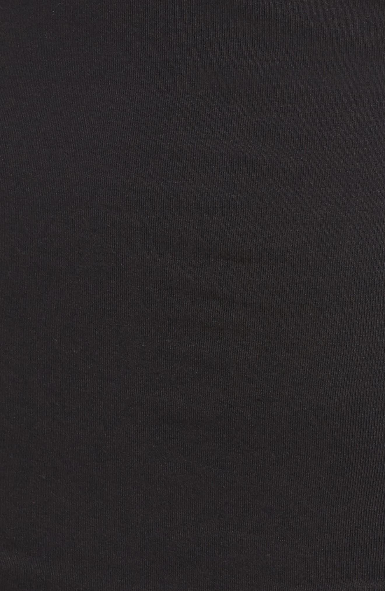 Cold Shoulder Body-Con Dress,                             Alternate thumbnail 5, color,                             Black