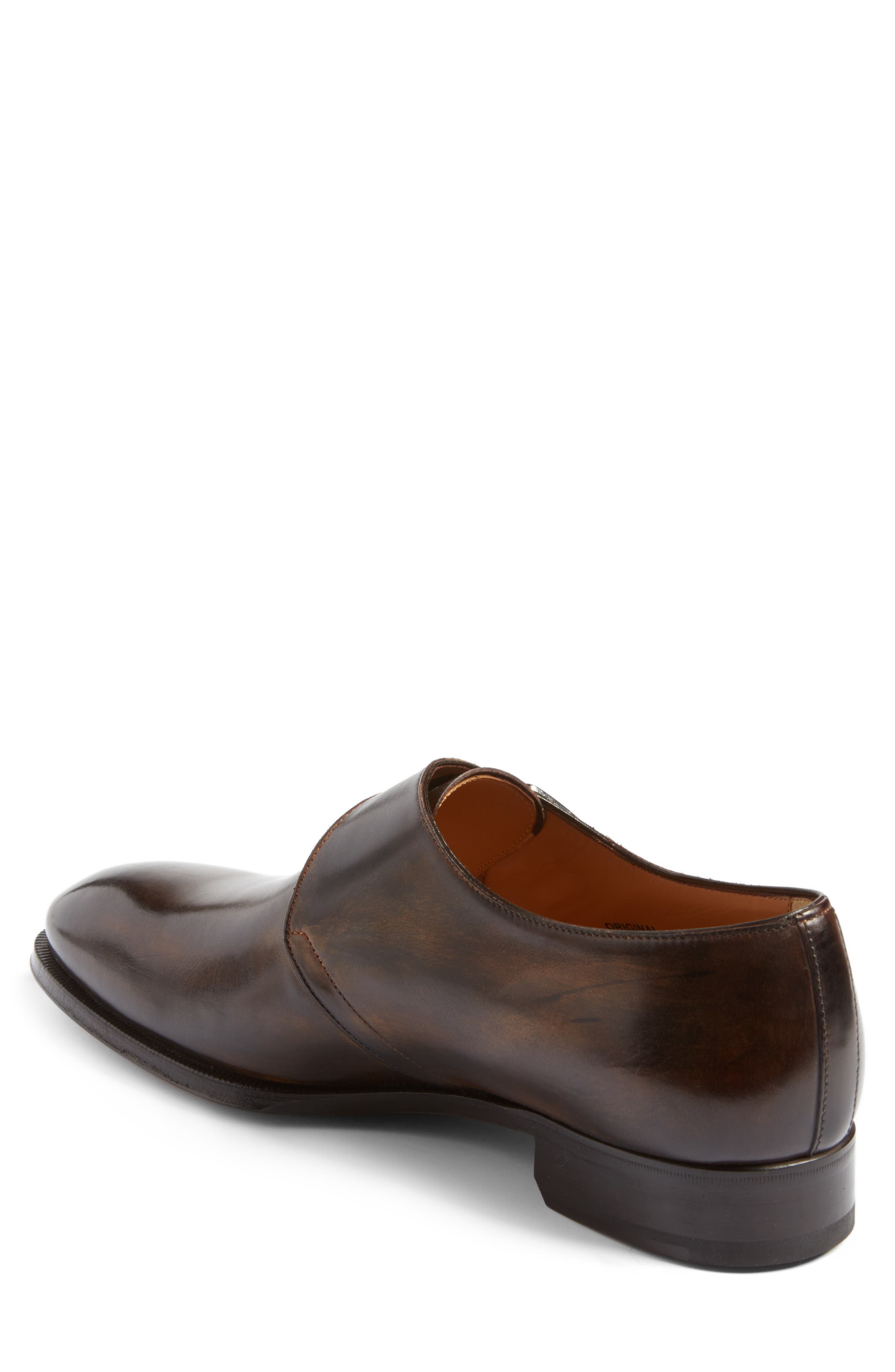 Monk Strap Shoe,                             Alternate thumbnail 2, color,                             Brown
