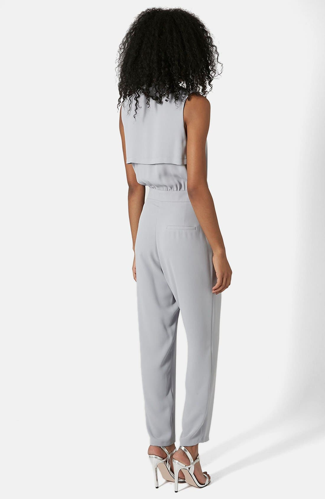 Alternate Image 2  - Topshop Sleeveless Wrap Front Jumpsuit