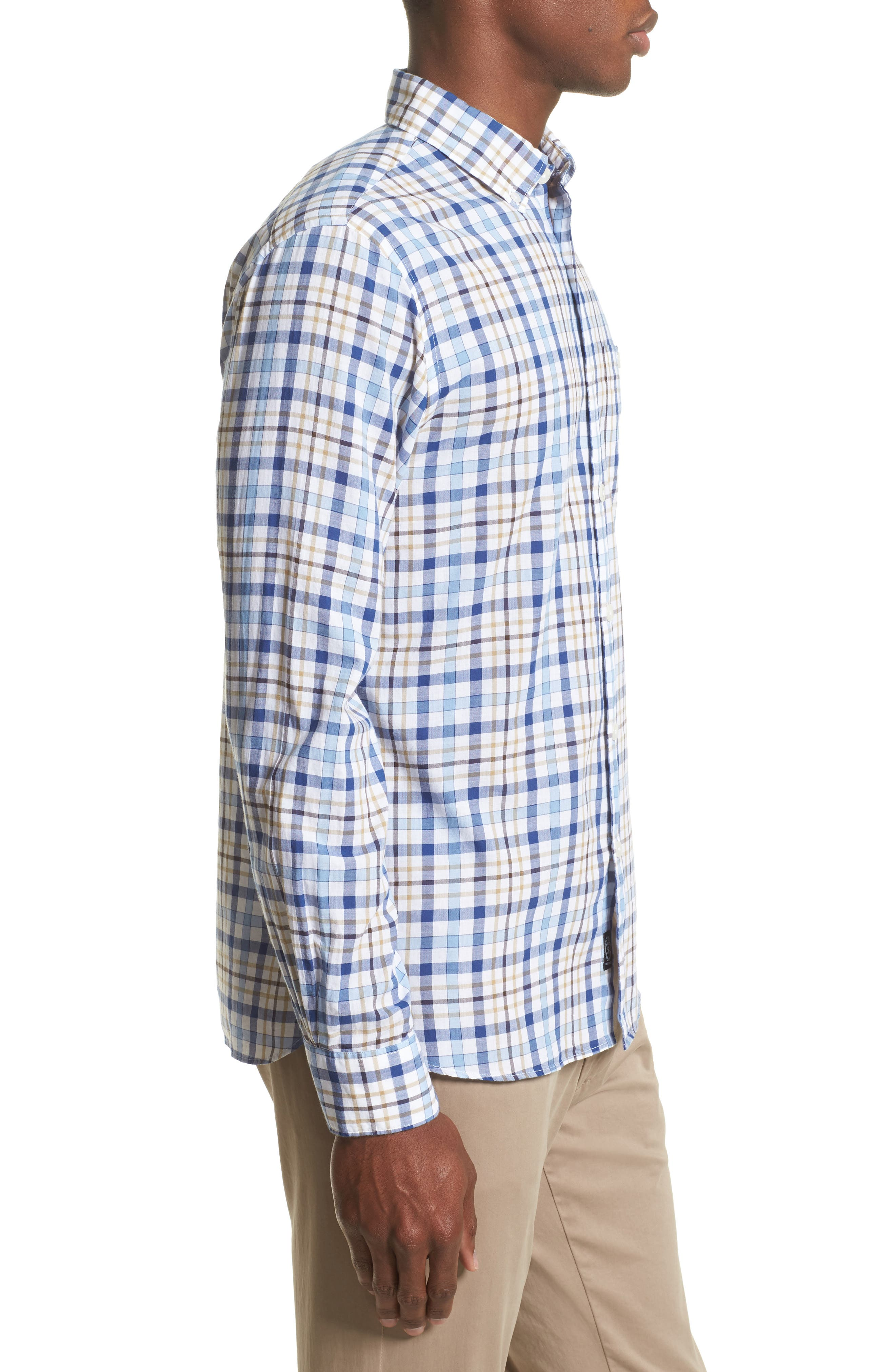 Alternate Image 3  - Todd Snyder Trim Fit Plaid Sport Shirt
