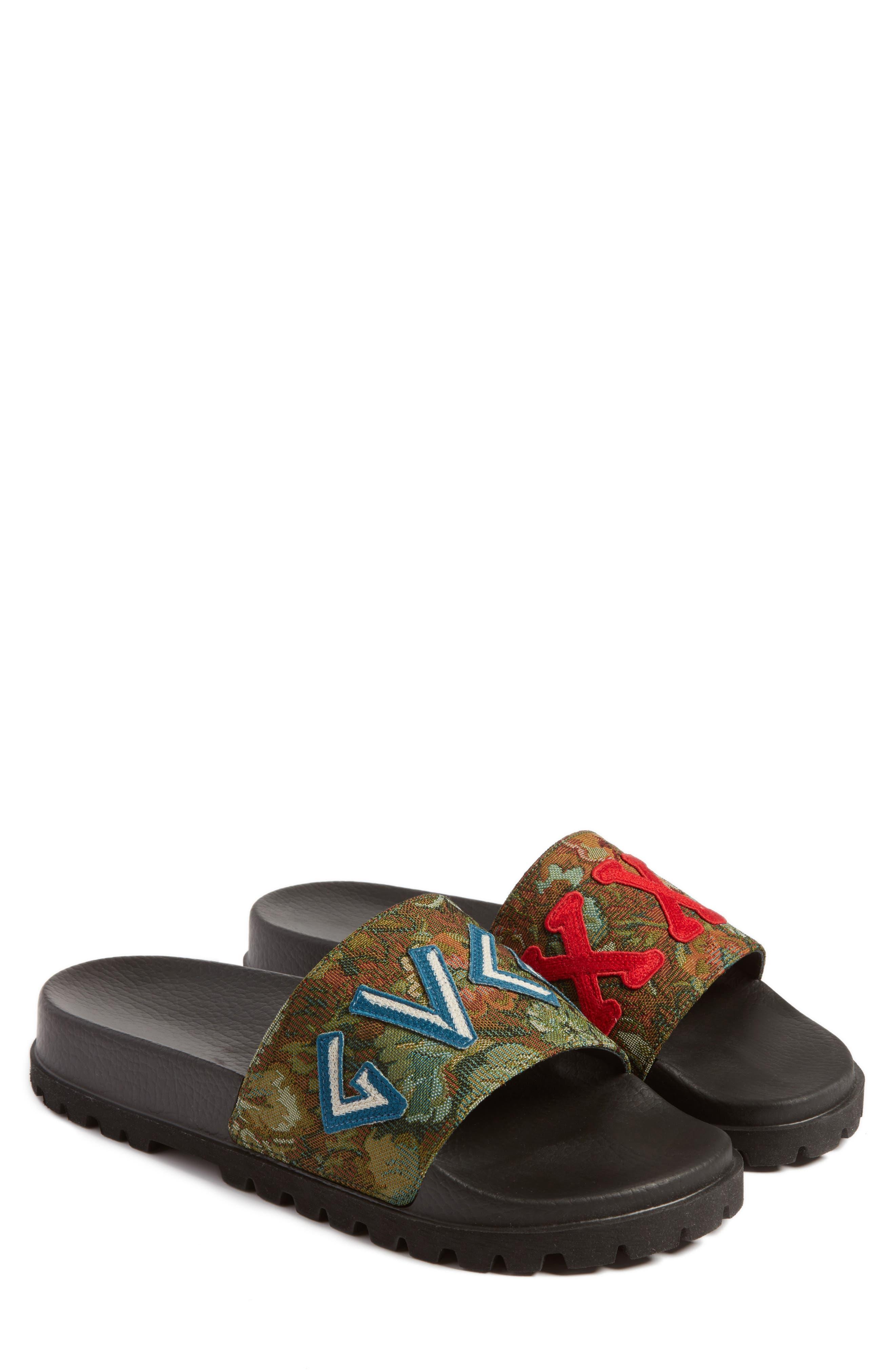 'Pursuit Treck' Slide Sandal,                             Main thumbnail 1, color,                             Green Multi