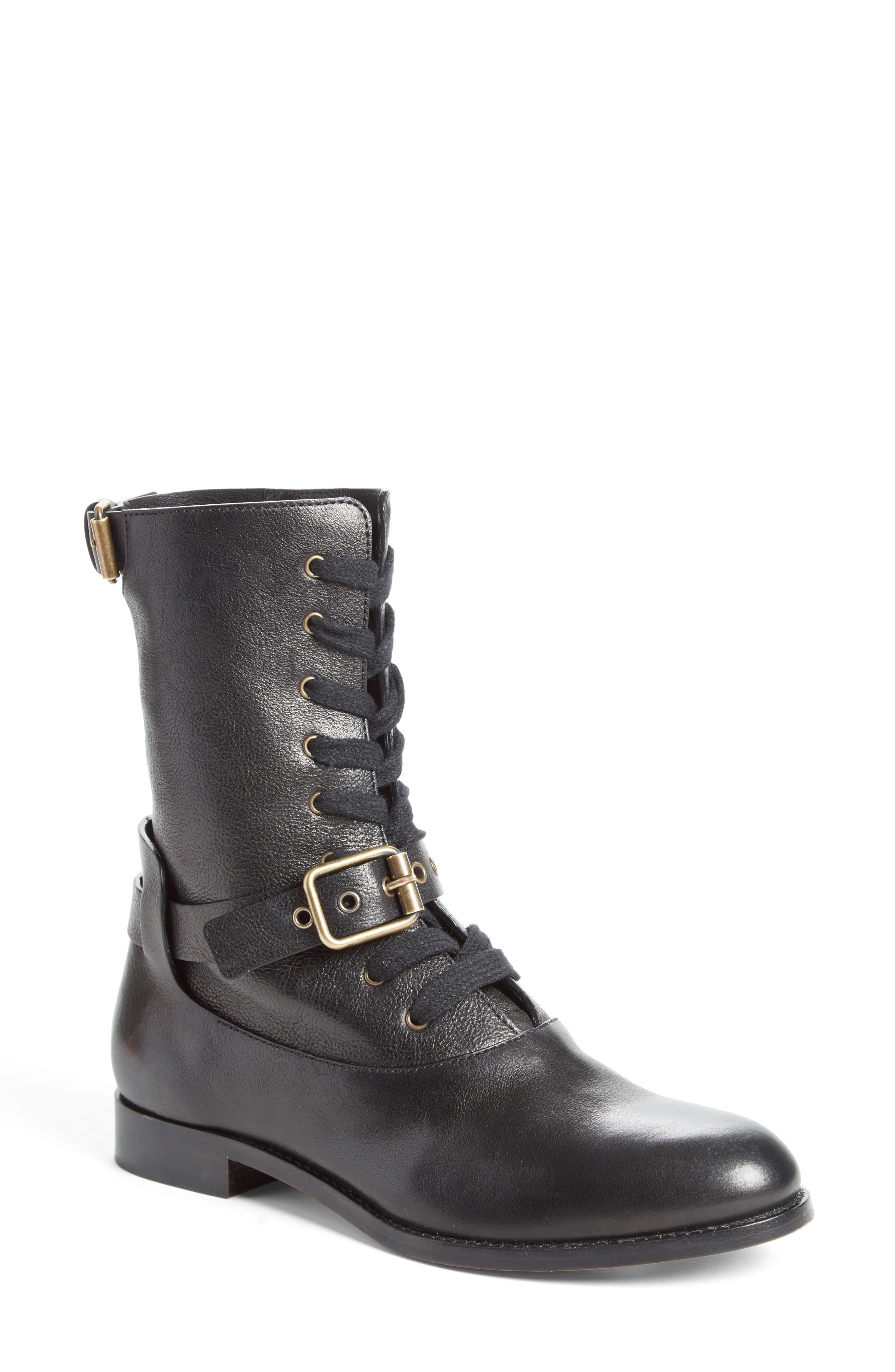 Otto Convertible Boot,                             Alternate thumbnail 4, color,                             Black